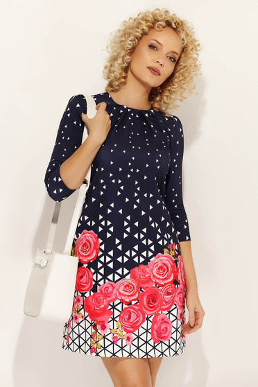 Fofy pink daily a-line dress soft fabric with floral prints