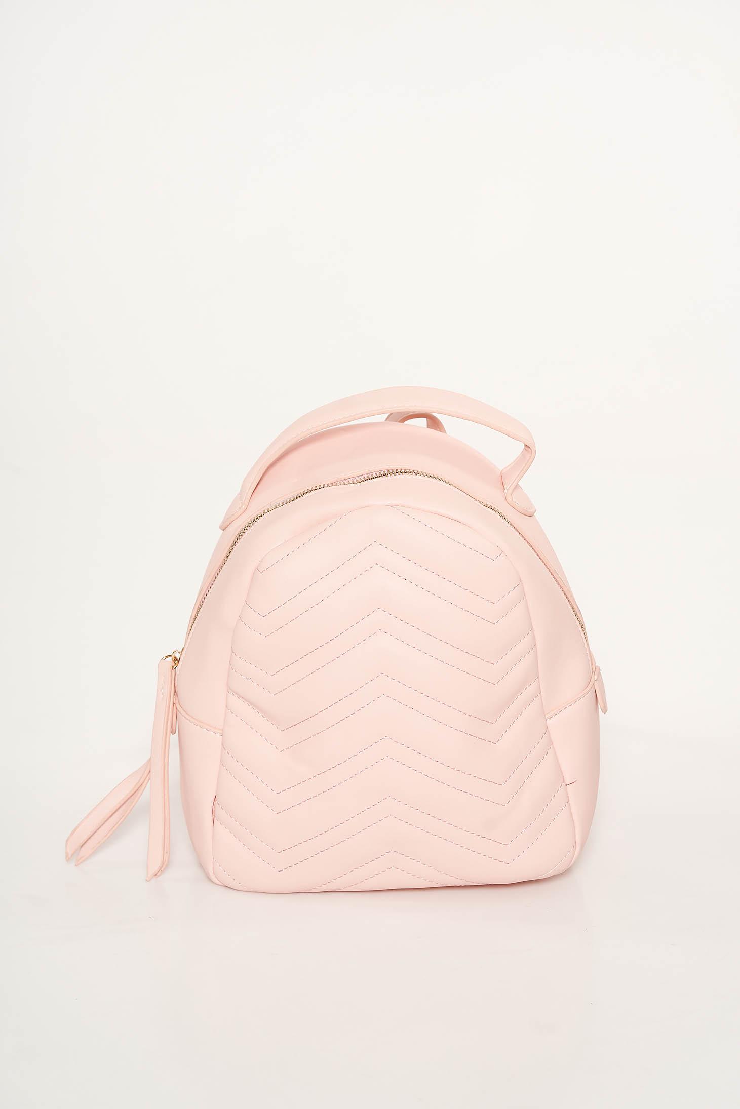 Rózsaszínű casual hátizsákok műbőr bojtos