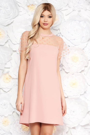 Rosa dress short transparent sleeves with easy cut