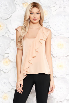 Rosa women`s blouse short sleeves with ruffle details