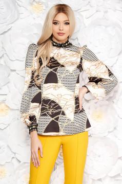LaDonna white elegant flared women`s blouse long sleeved