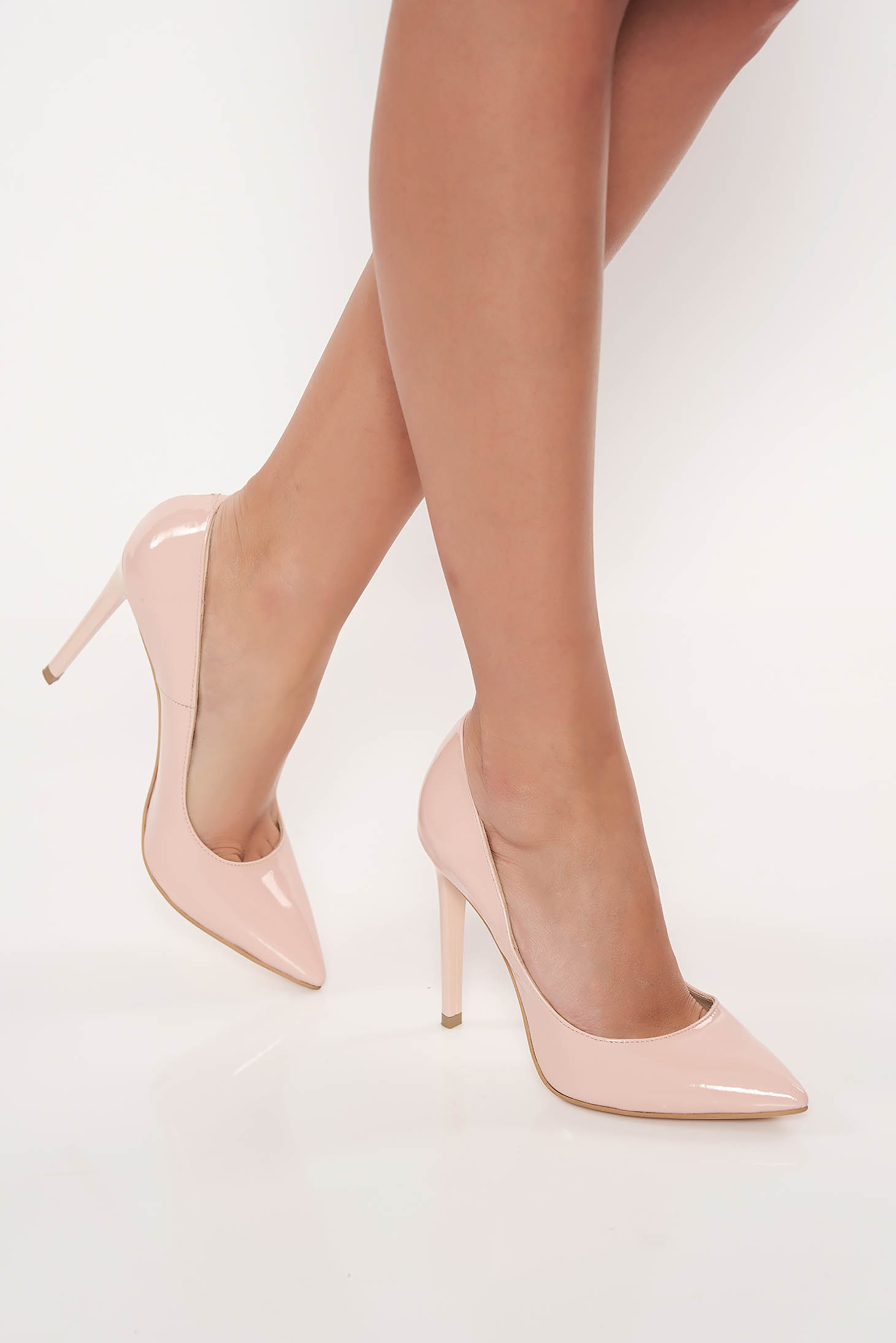 Rosa Elegant Stiletto Shoes Natural Leather With High Heels