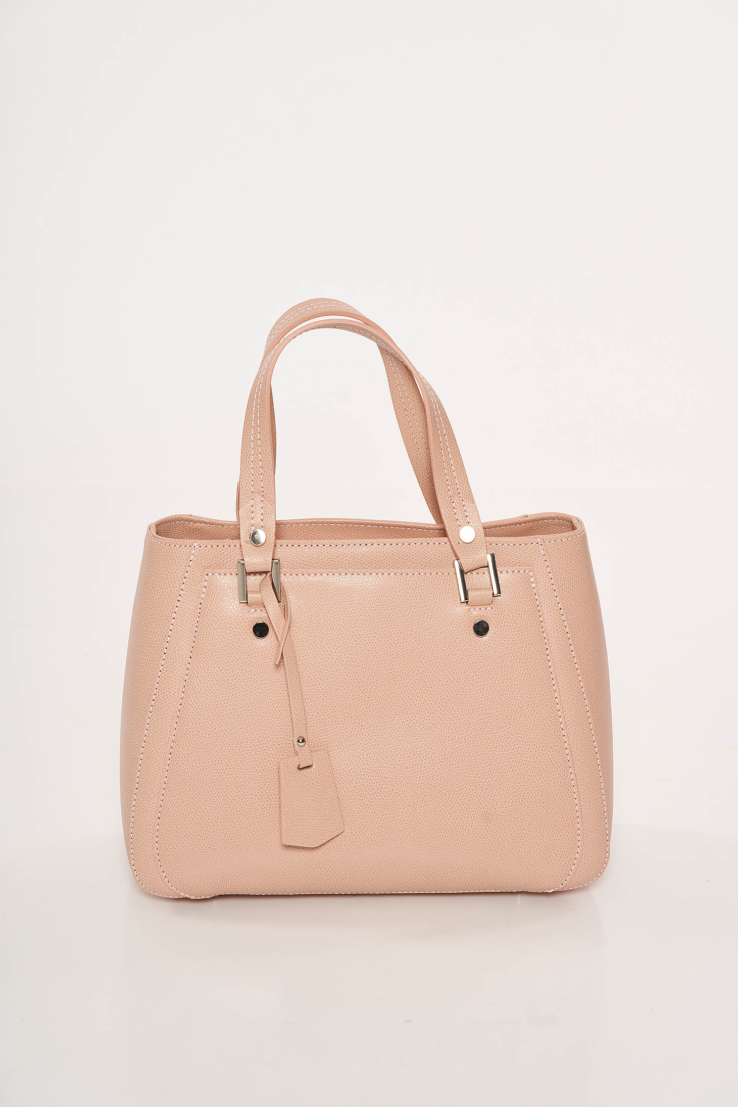 Peach office leather bag