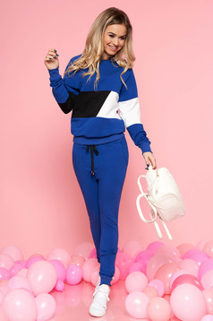 SunShine blue set with trousers slightly elastic cotton