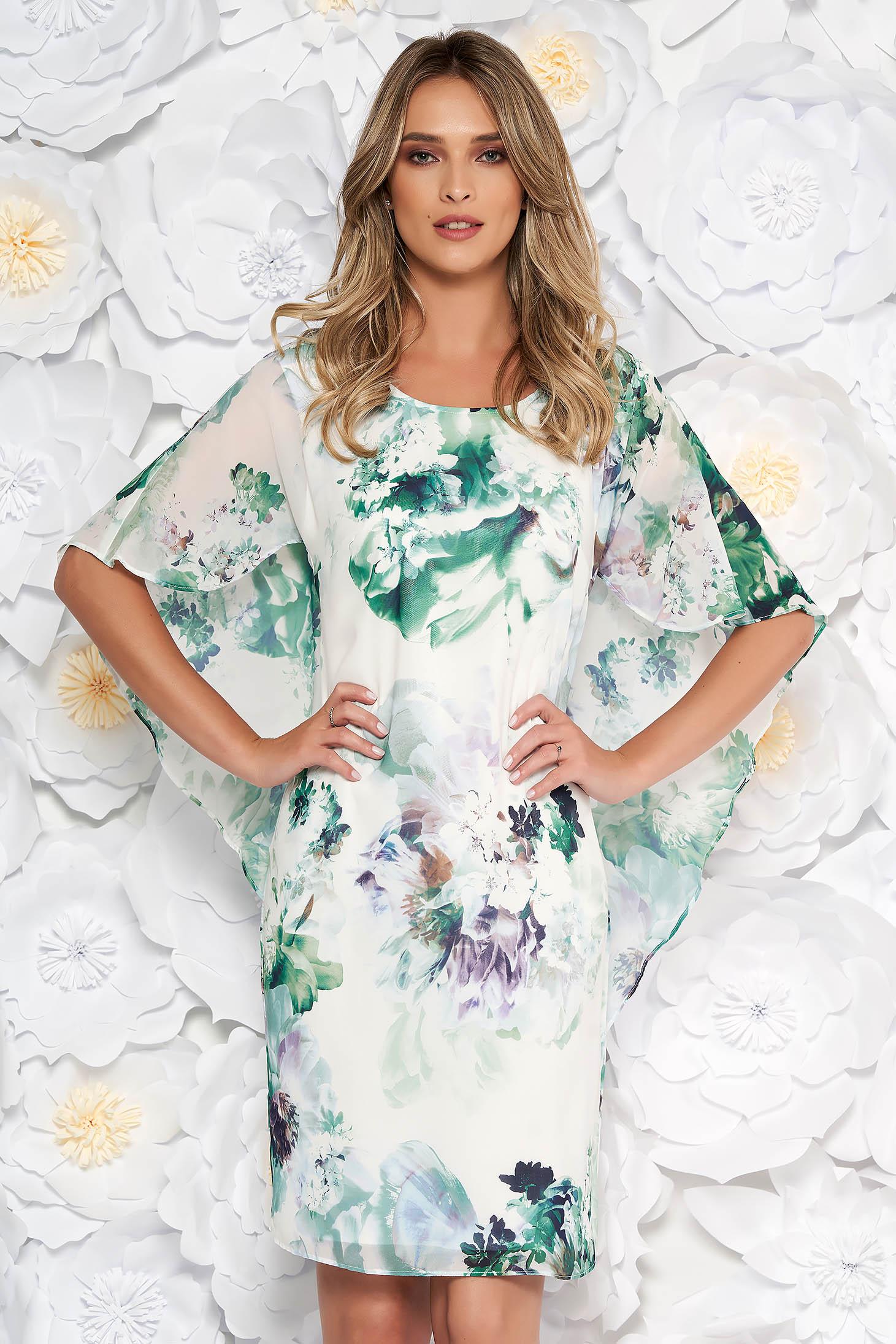 5f5b00bd70 Világos zöld elegáns virágmintás ruha szűk szabás vékony anyag