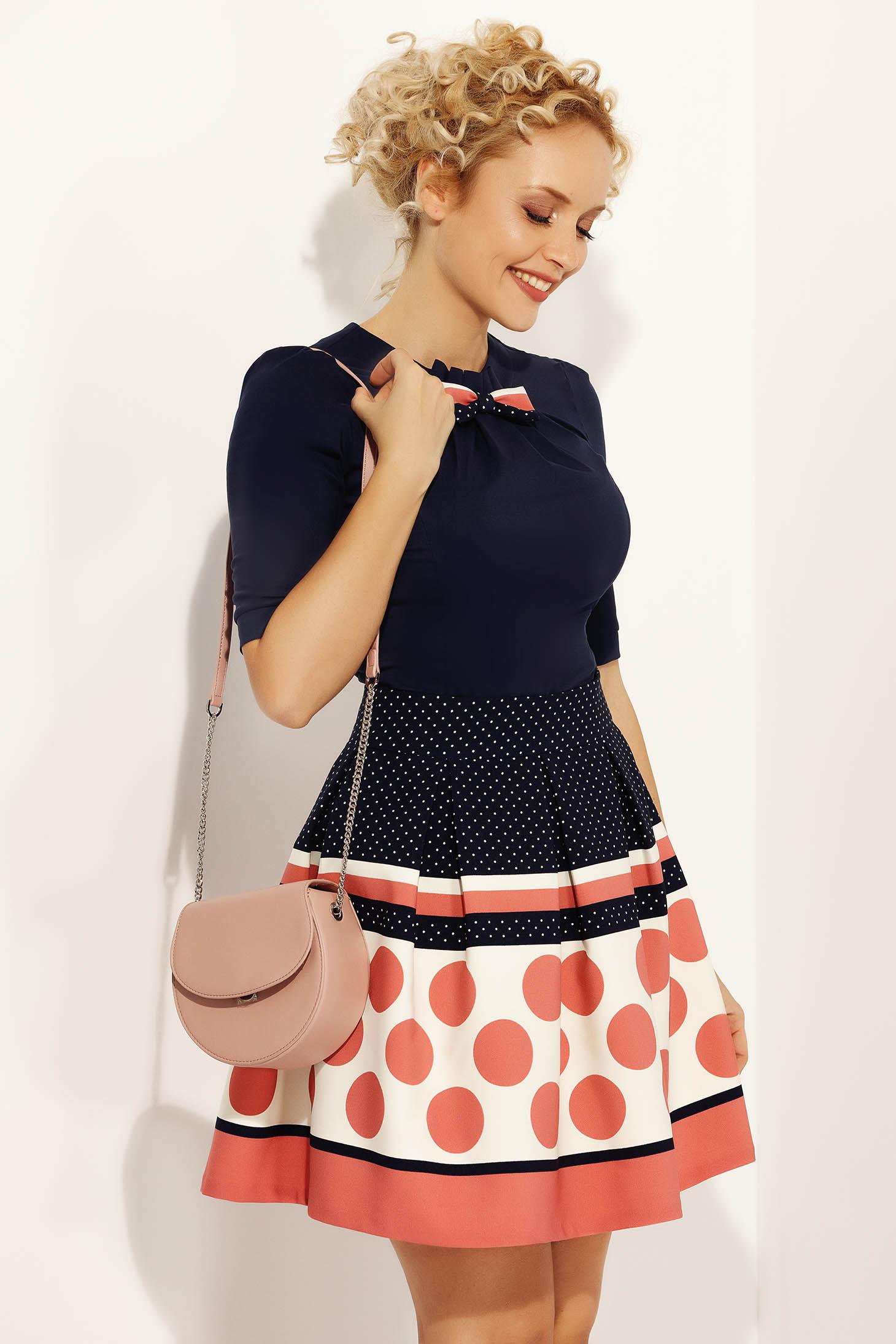 Fofy rosa office cloche skirt slightly elastic fabric high waisted
