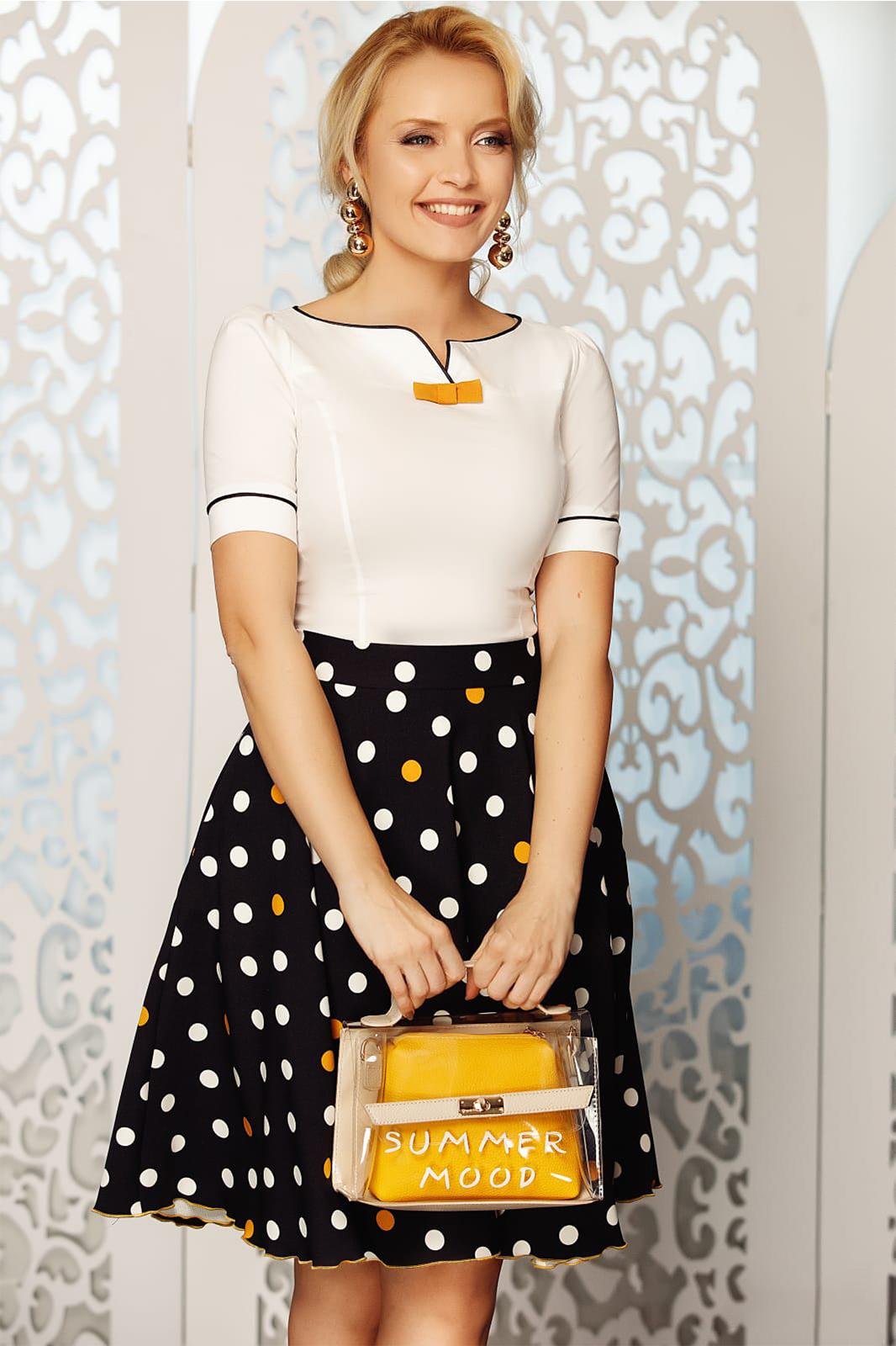 433e094642 Fehér Fofy elegáns női ing szűk szabás enyhén elasztikus pamut masni  díszítéssel