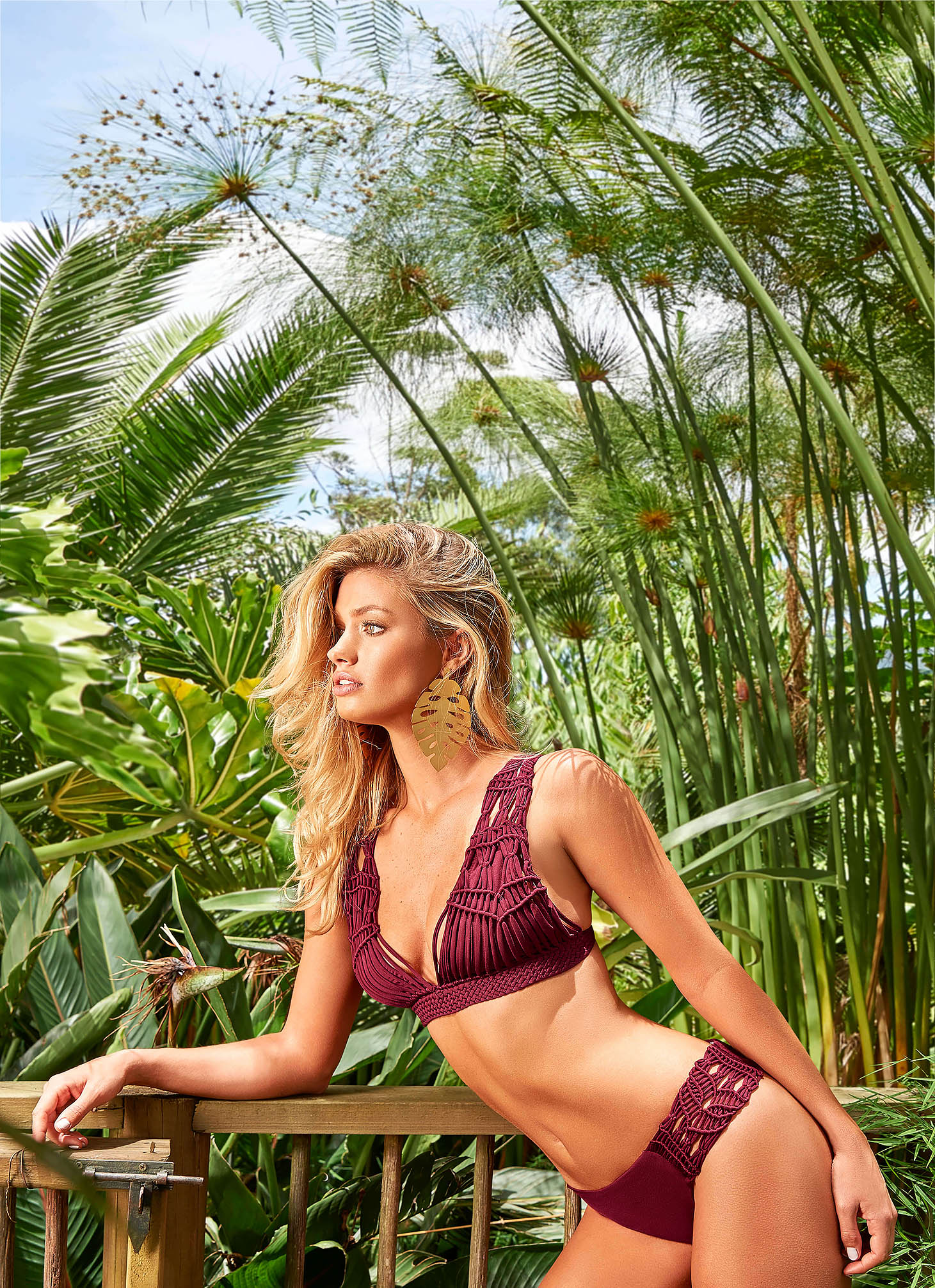 Cosita Linda burgundy swimsuit luxurious from two pieces