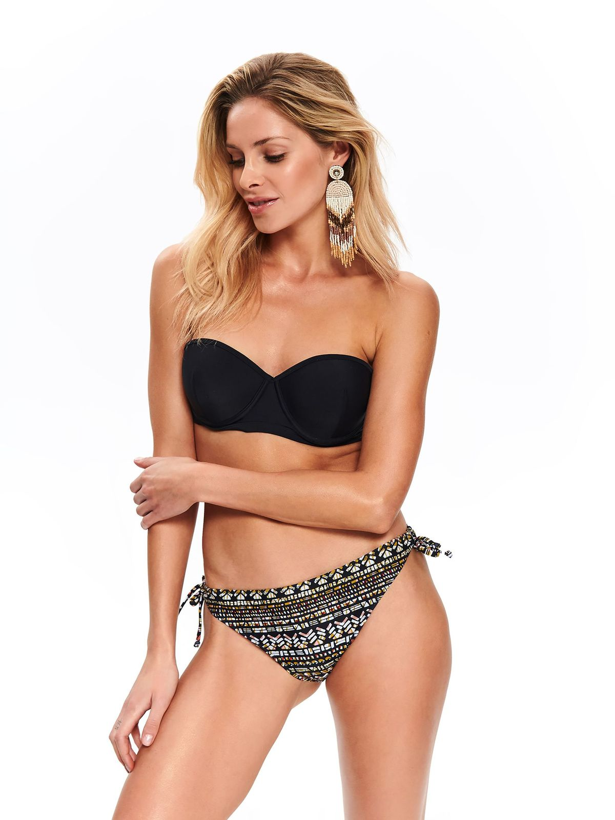 Sutien de baie negru Top Secret tip balconet