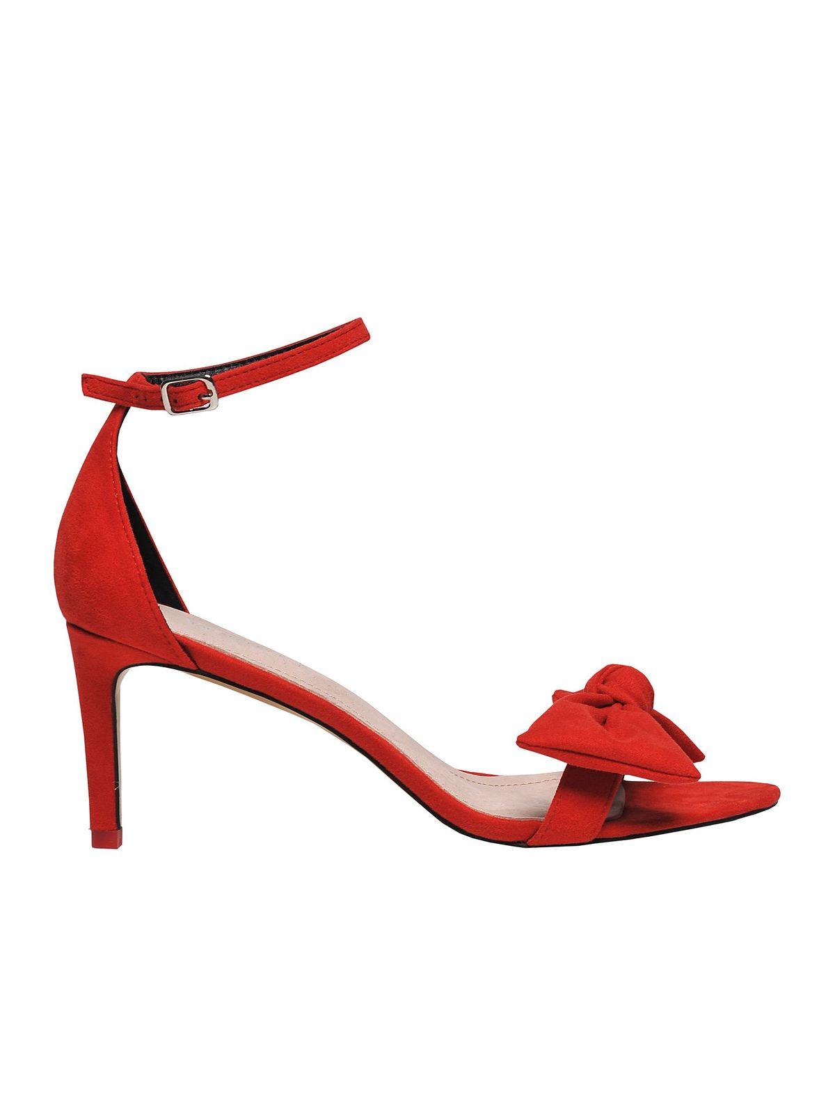 Sandale Top Secret portocalii elegante cu barete subtiri accesorizat cu o fundita
