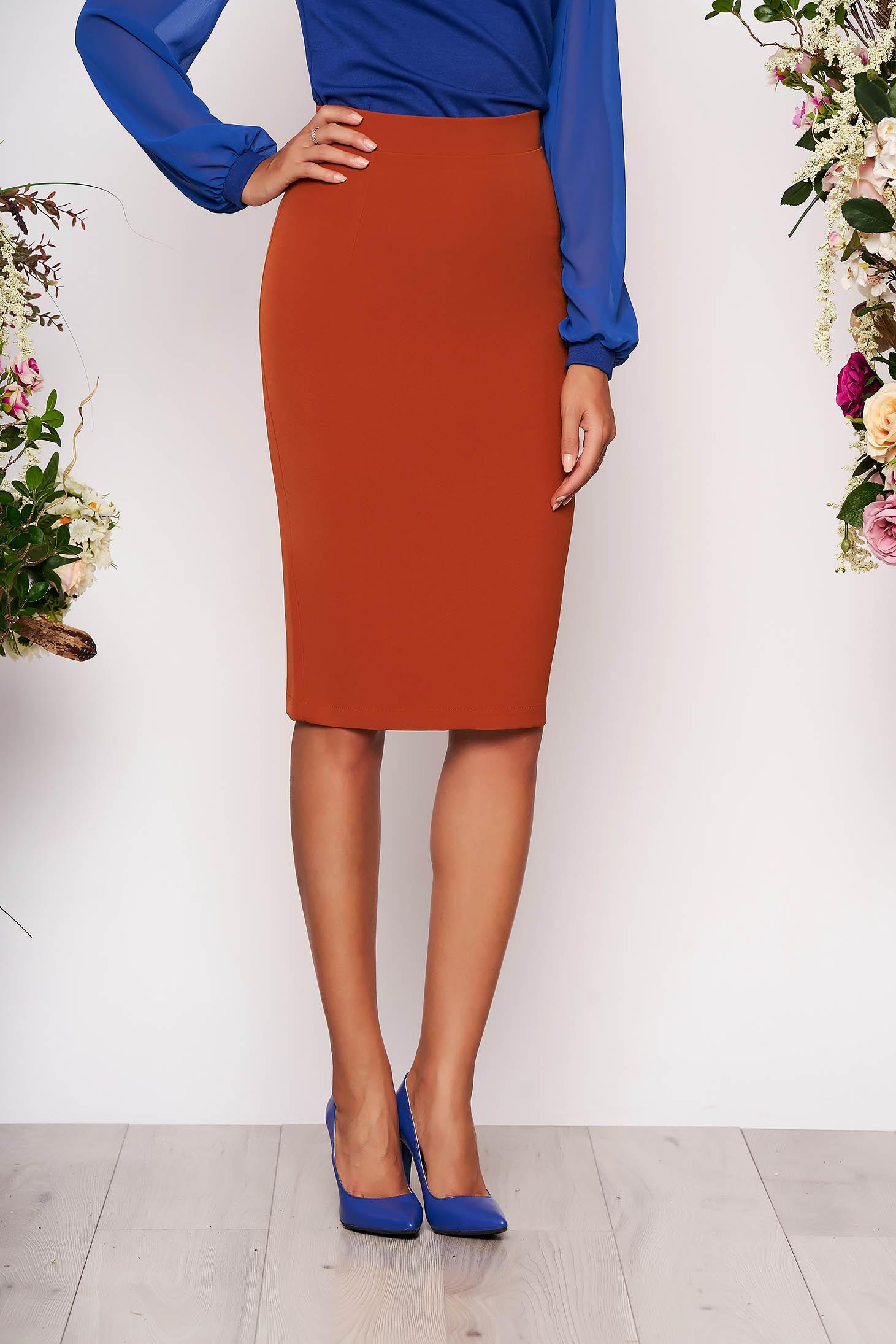 StarShinerS bricky high waisted office pencil skirt slightly elastic fabric