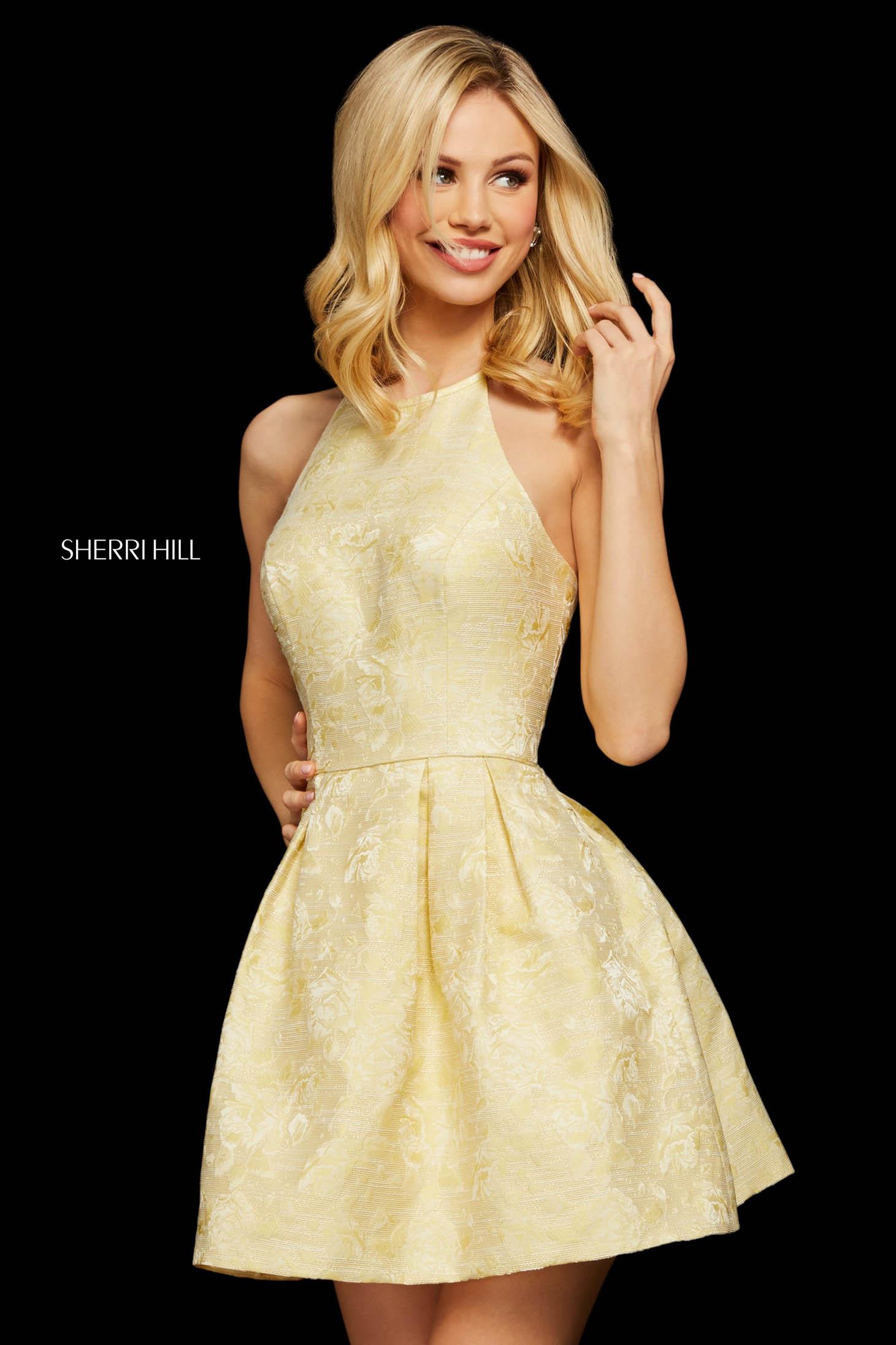 Rochie Sherri Hill 53072 yellow