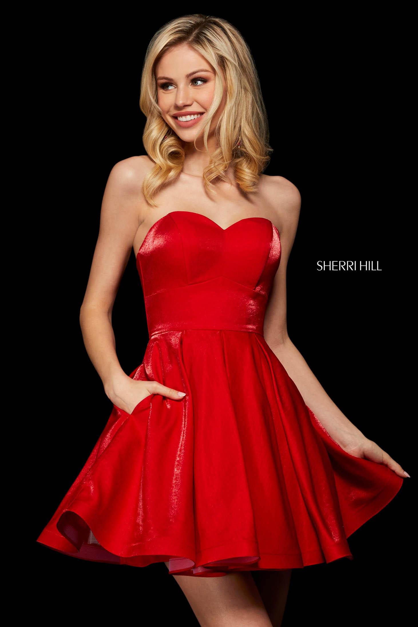 Rochie Sherri Hill 53107 red