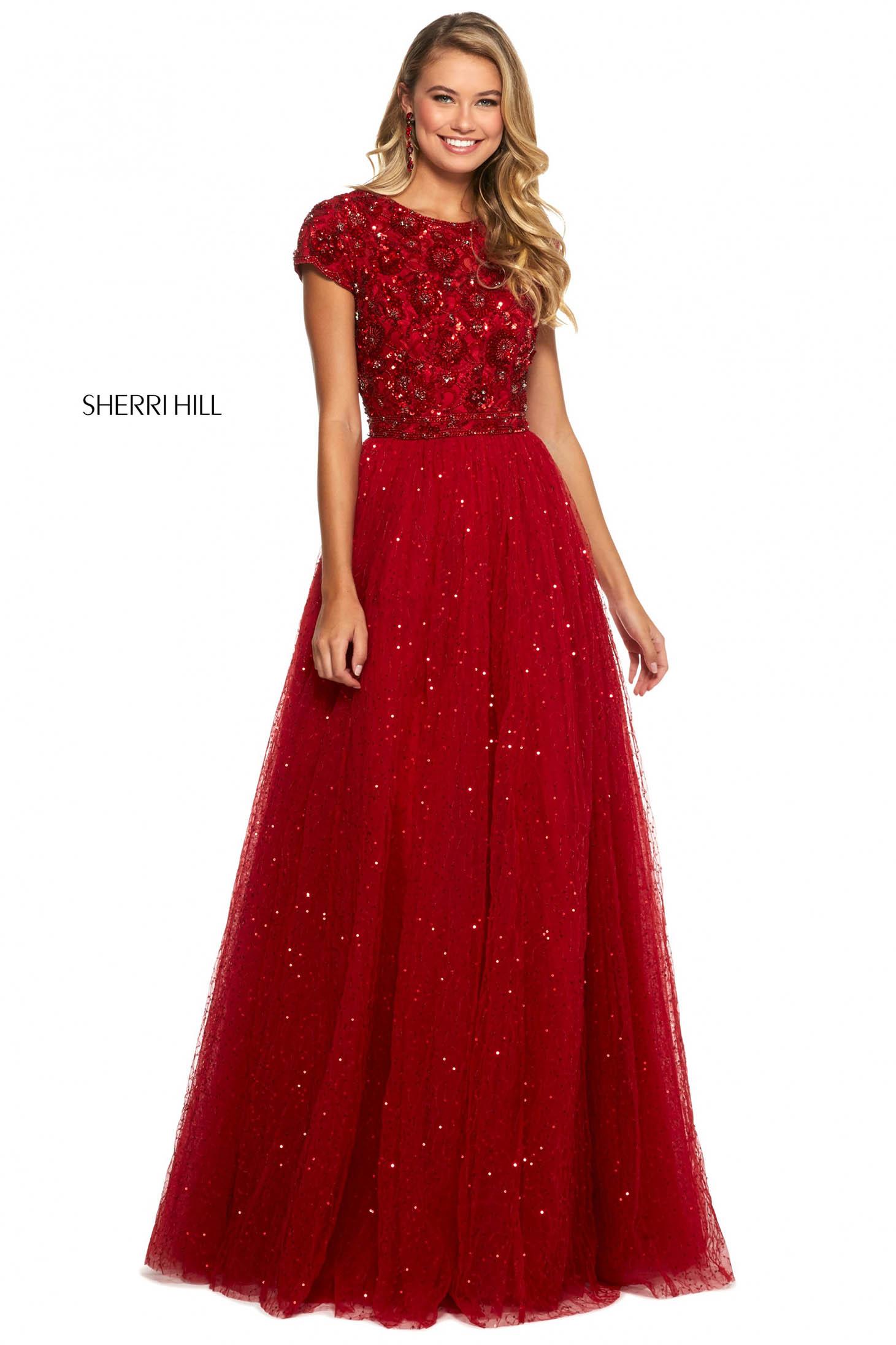 Rochie Sherri Hill 53227 red