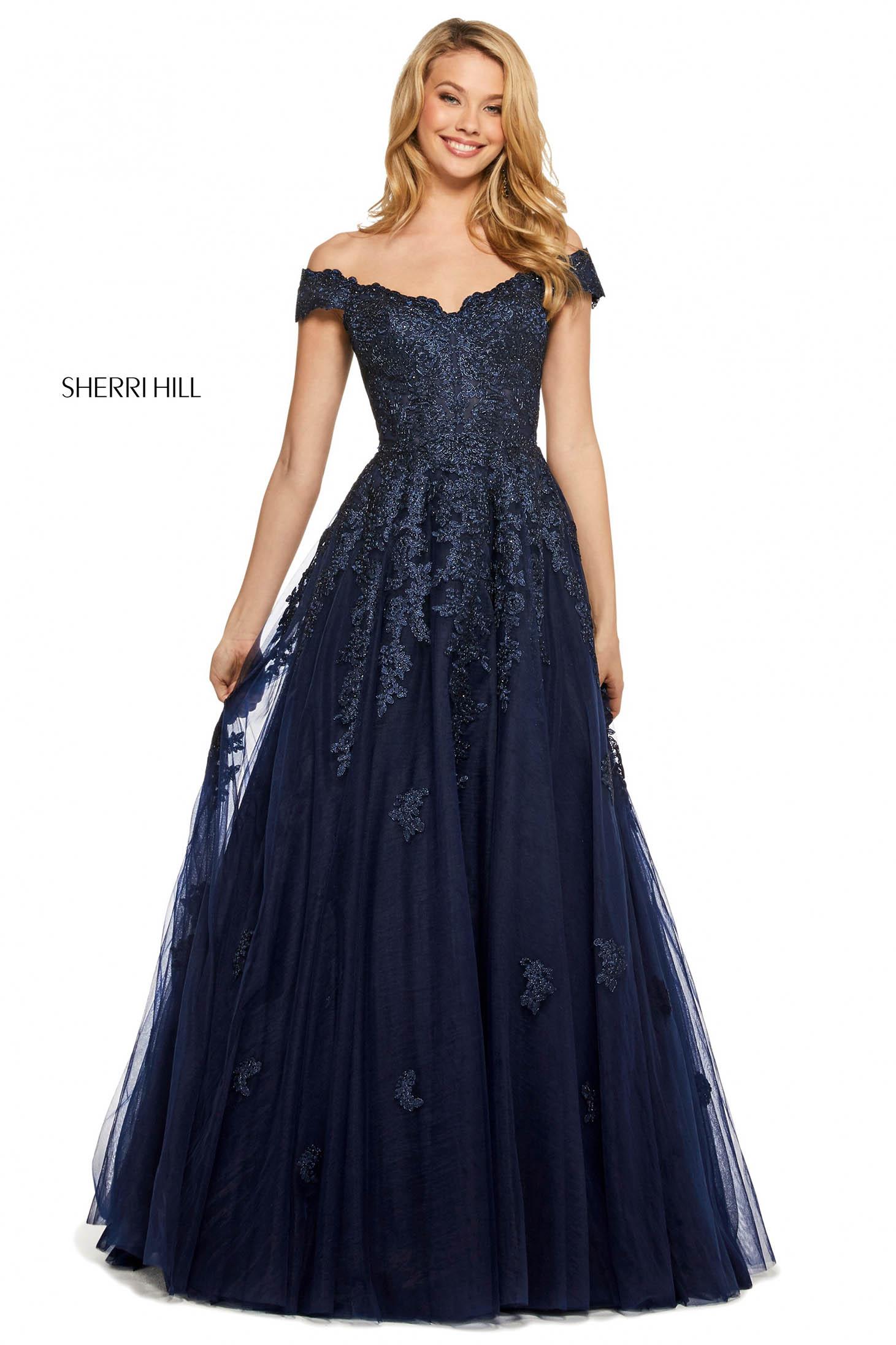 Rochie Sherri Hill 53251 navy