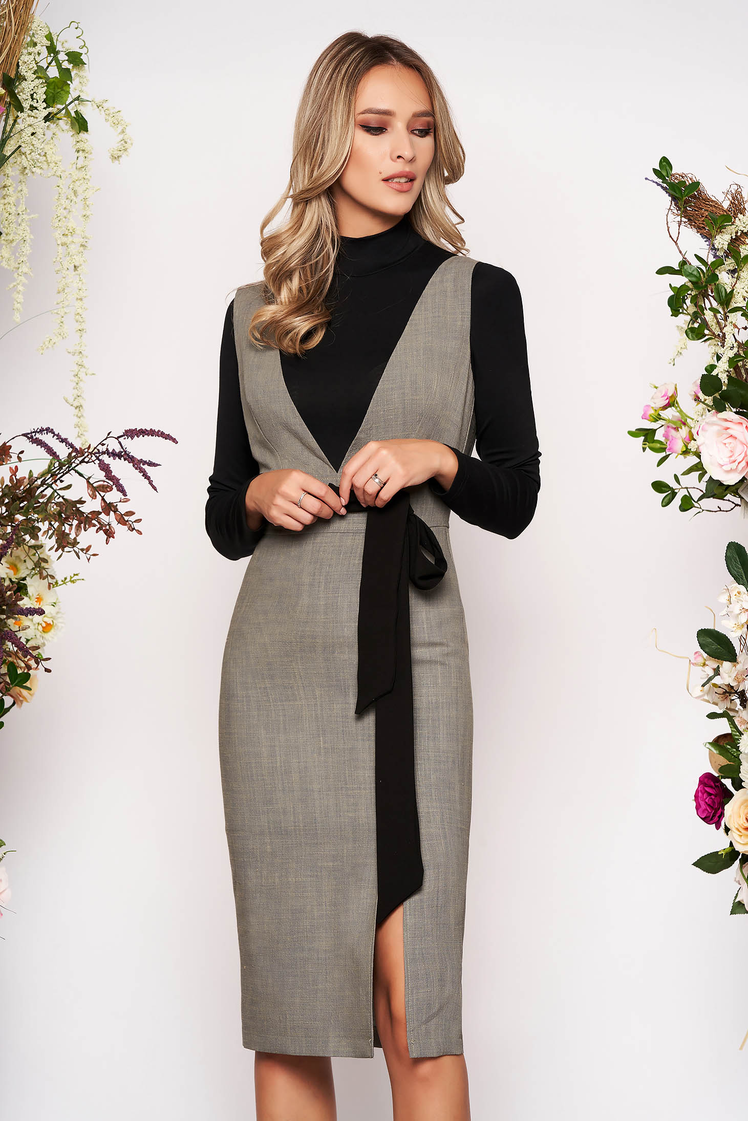 StarShinerS grey office 2 pieces wool set with tented cut