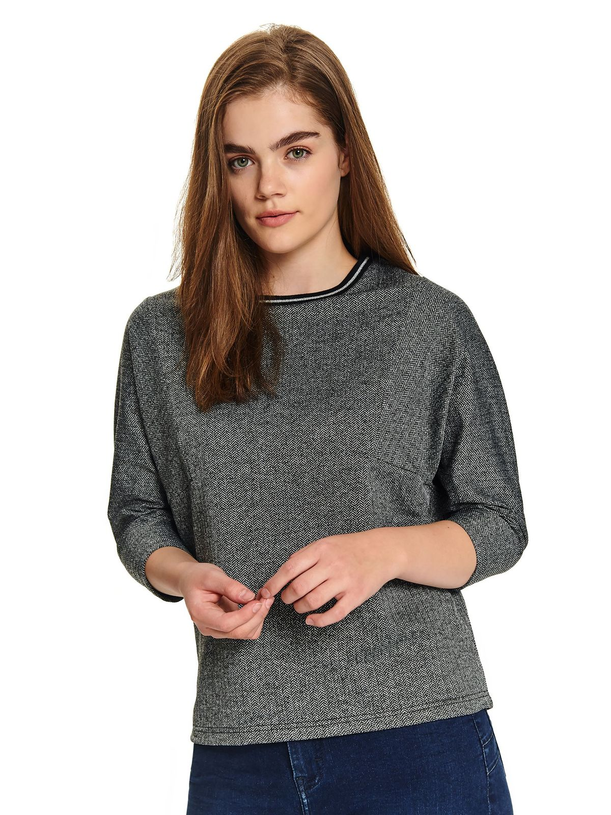 Grey women`s blouse