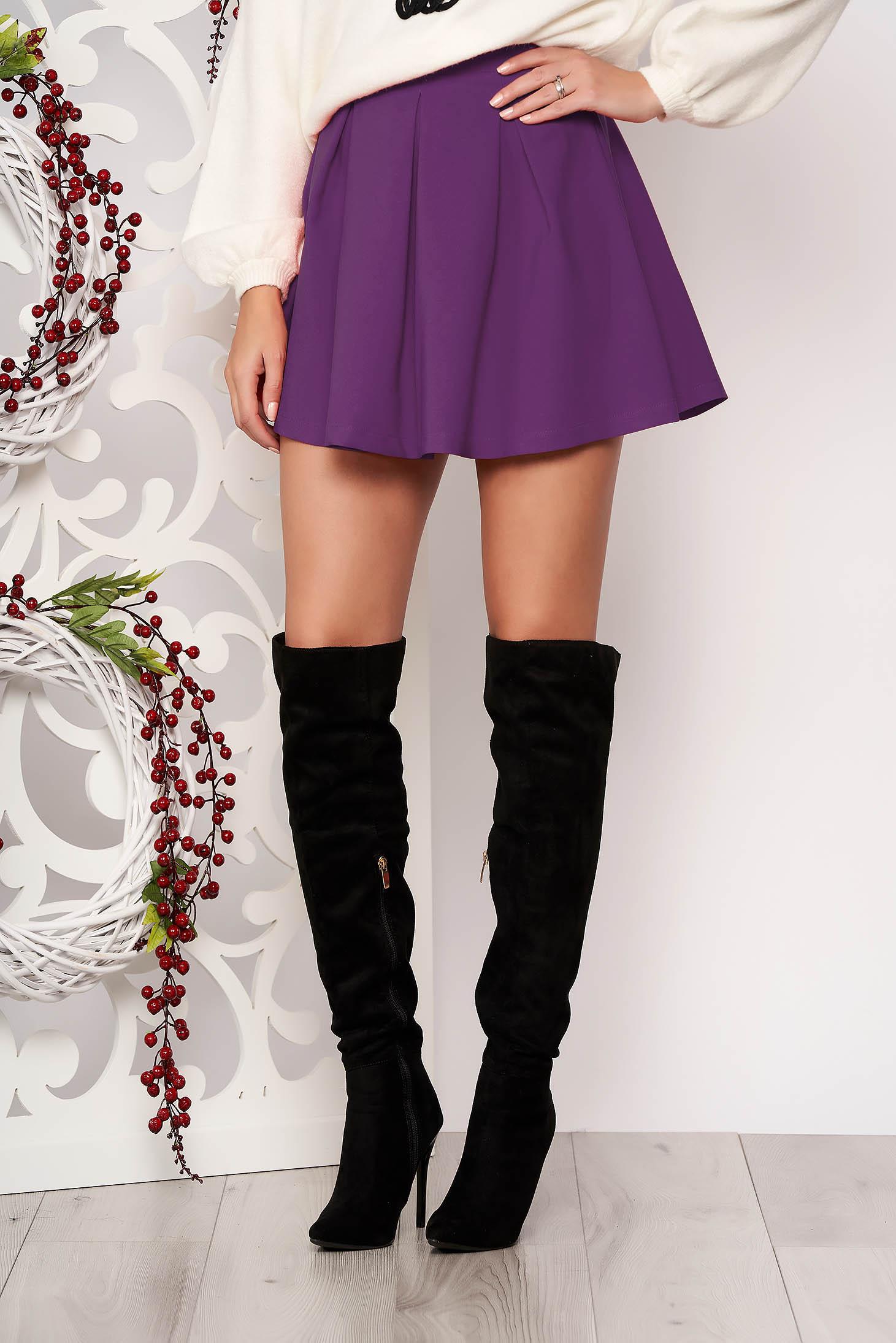 Lila casual cloche skirt slightly elastic fabric medium waist