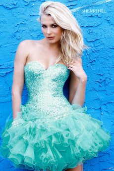 Sherri Hill Stunning Turquoise Dress