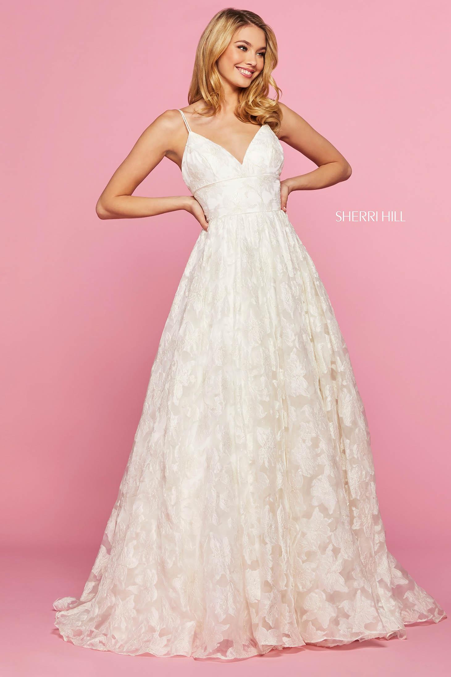 Rochie Sherri Hill 53410 blush