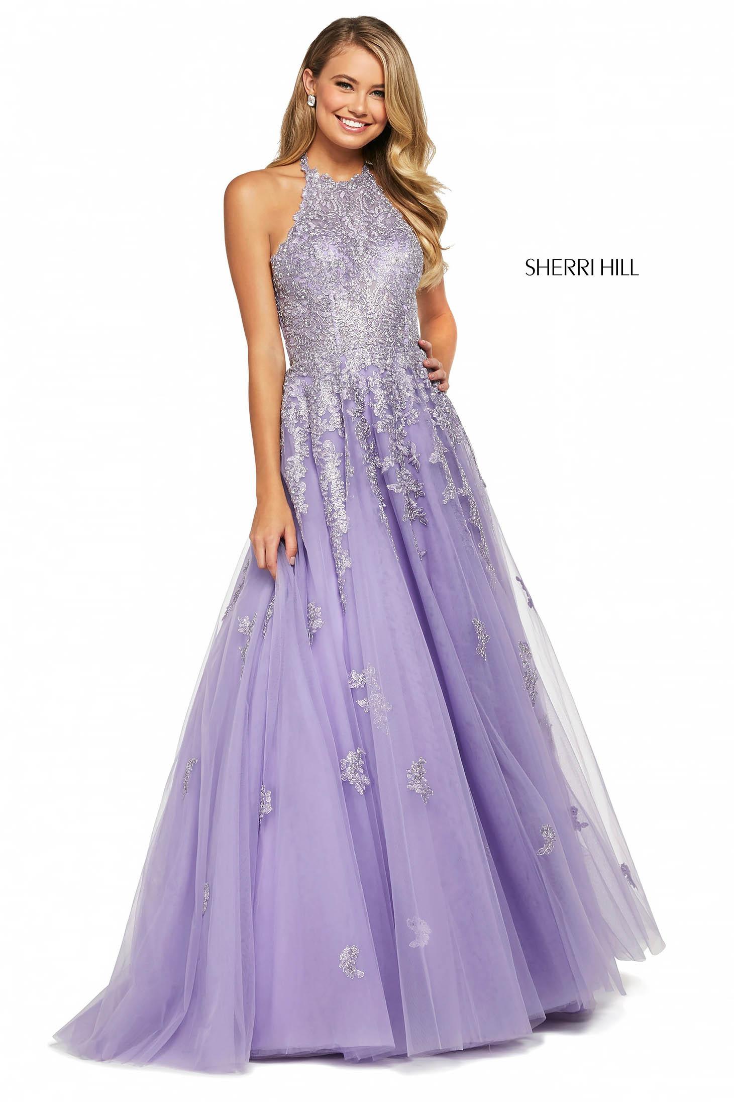 Rochie Sherri Hill 53482 lilac