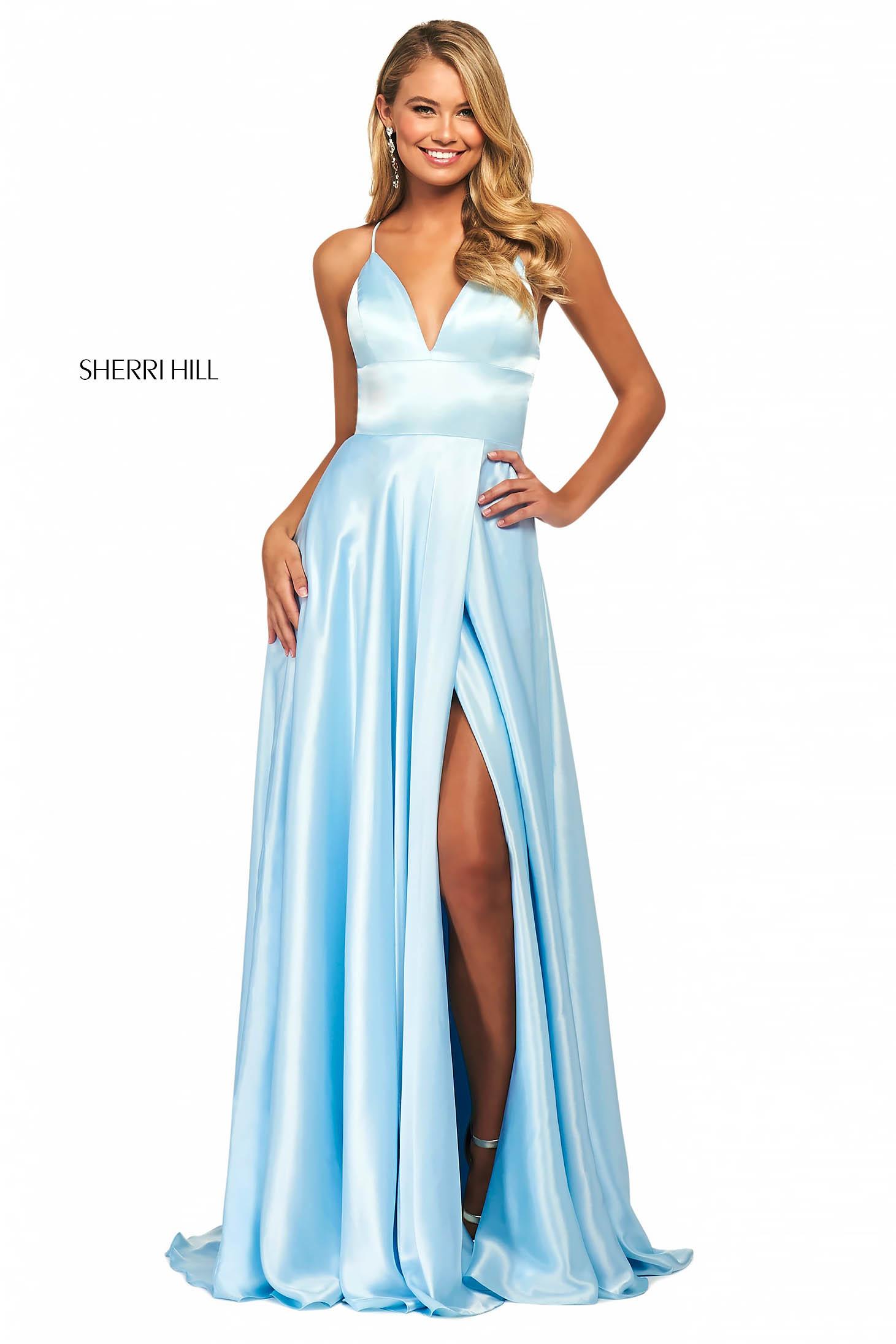 Rochie Sherri Hill 53498 aqua