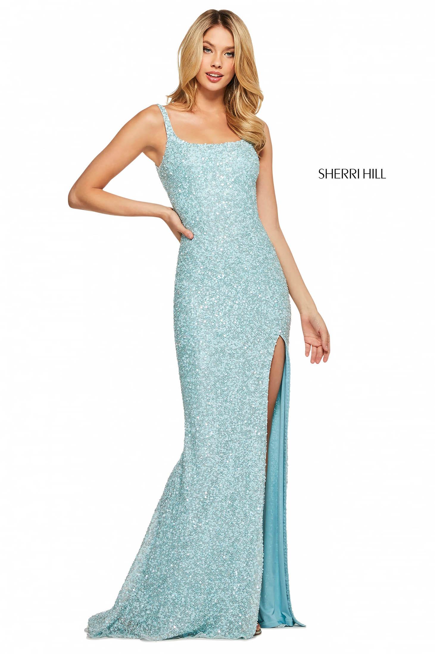 Rochie Sherri Hill 53569 emerald