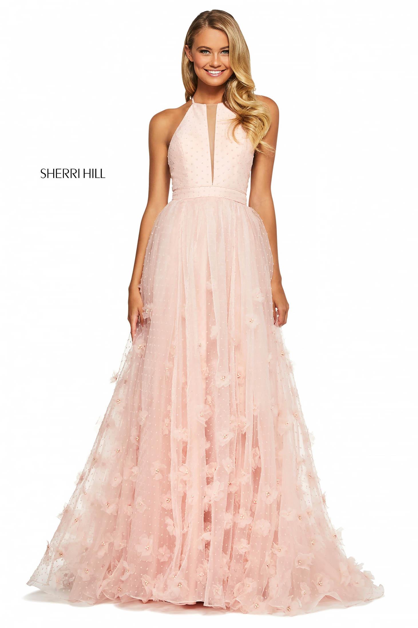 Rochie Sherri Hill 53595 blush