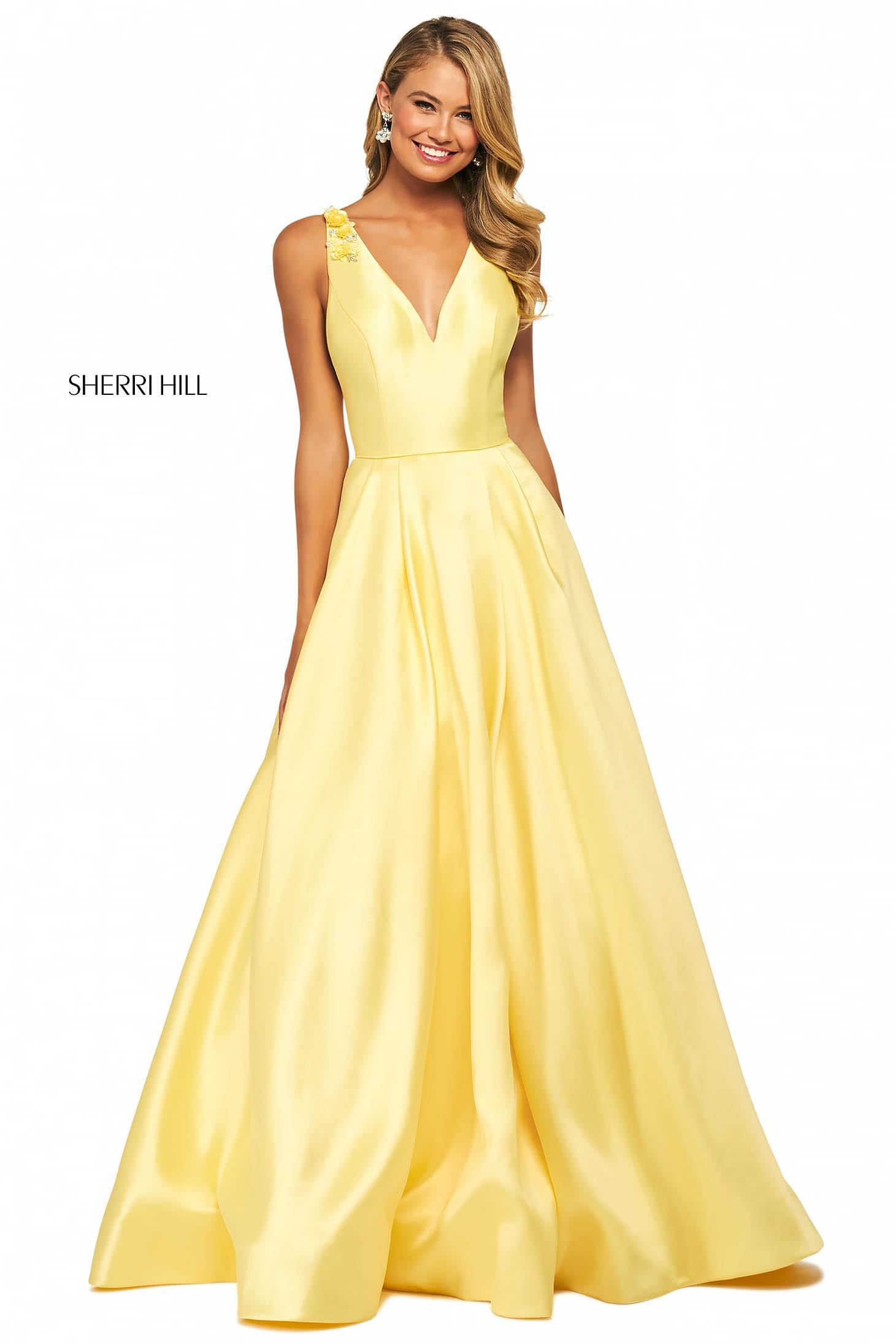 Rochie Sherri Hill 53732 yellow