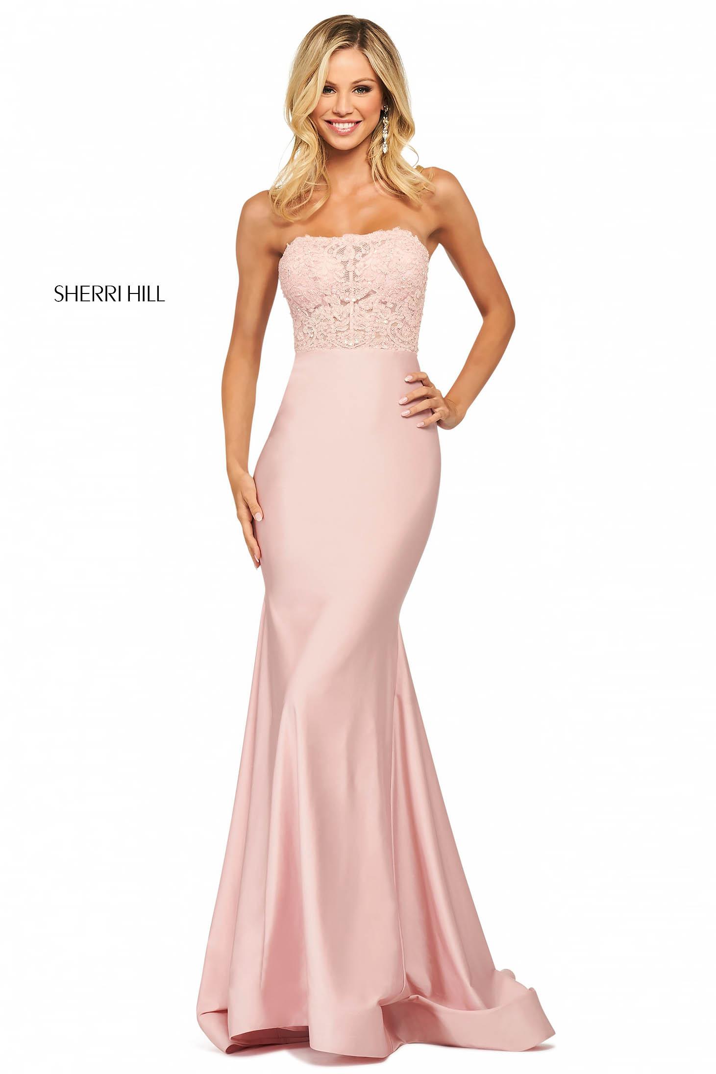 Rochie Sherri Hill 53751 blush