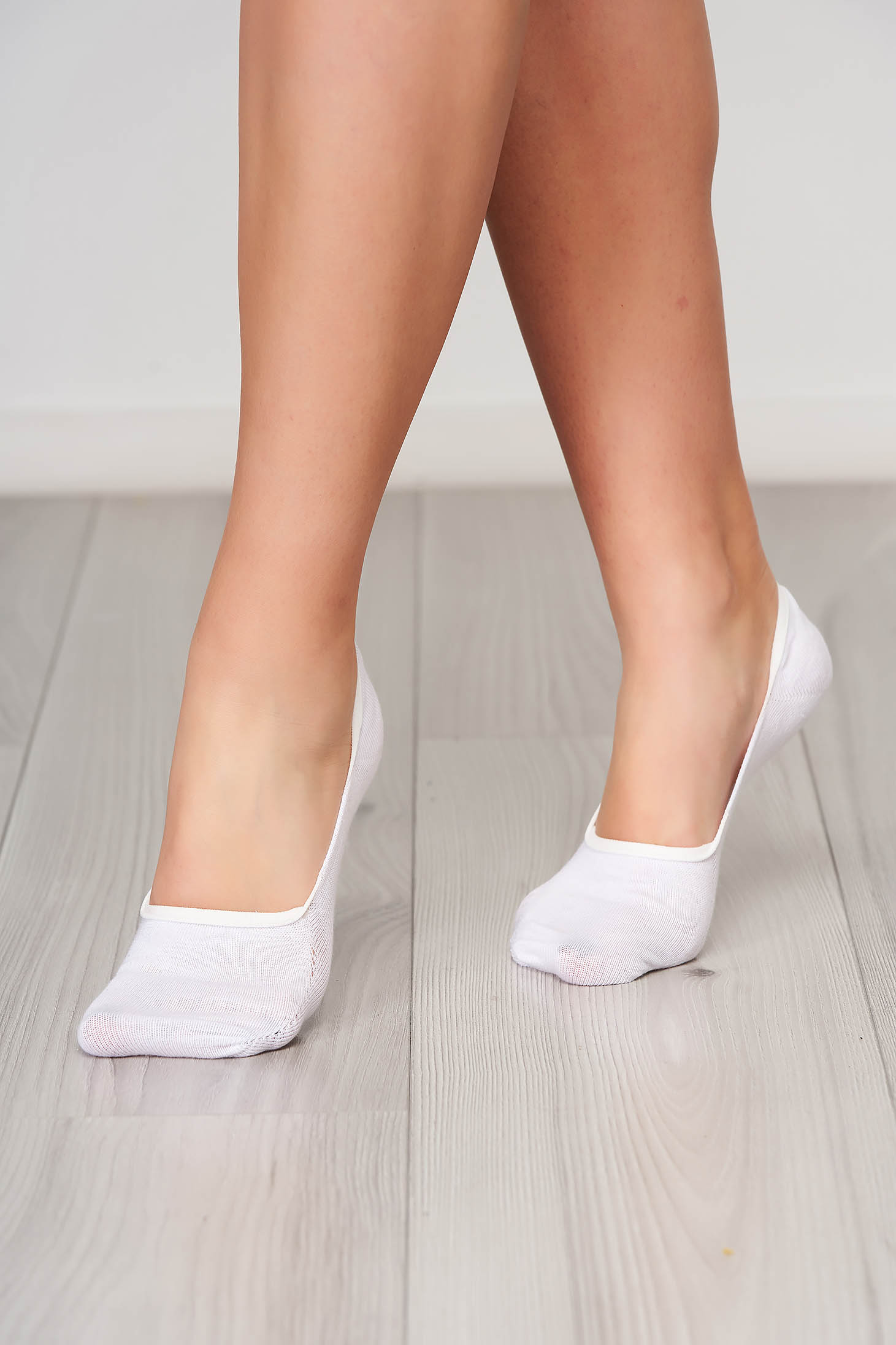 Cotton zoknik white with runstop