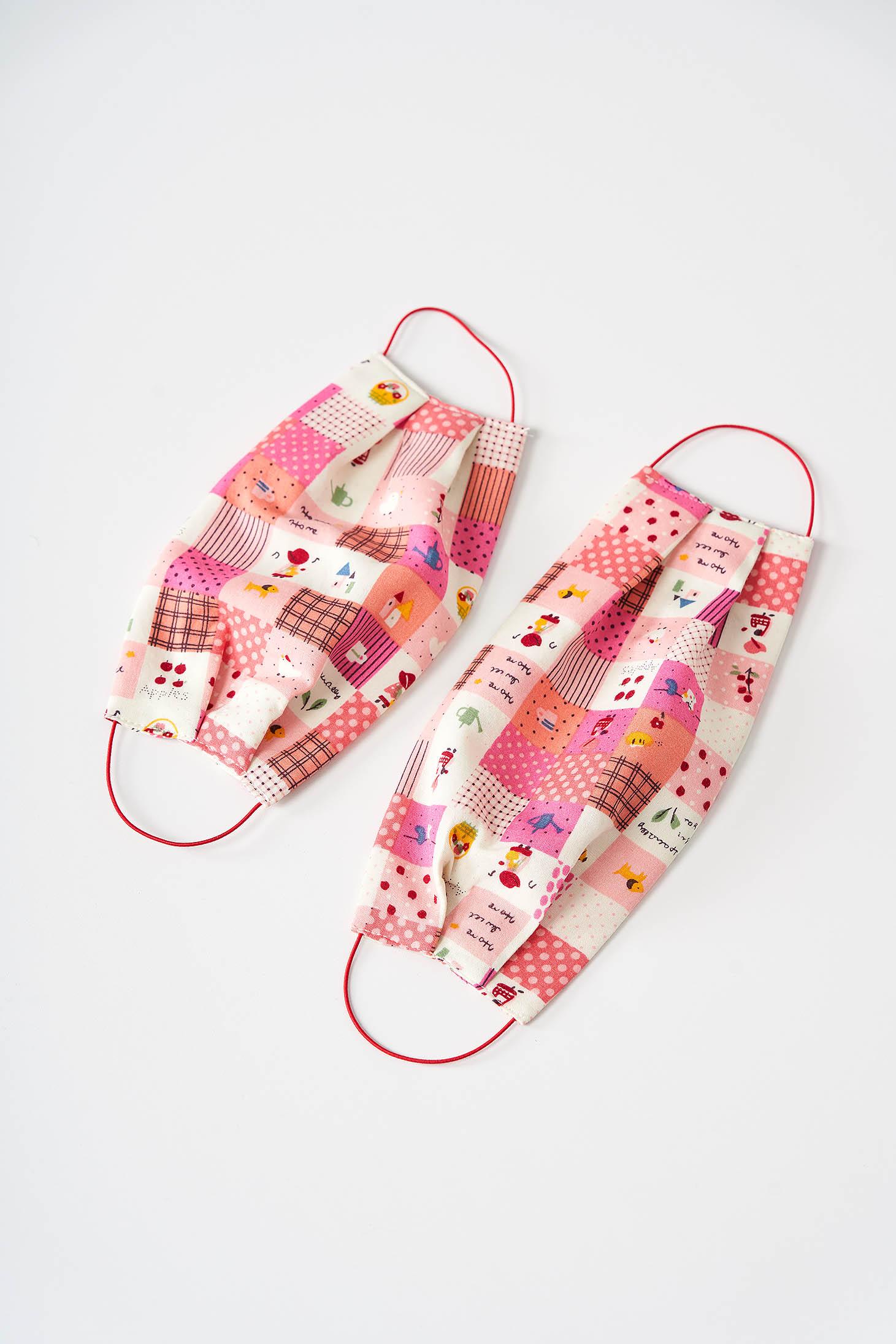 Masca de protectie pentru adulti StarShinerS roz din bumbac subtire