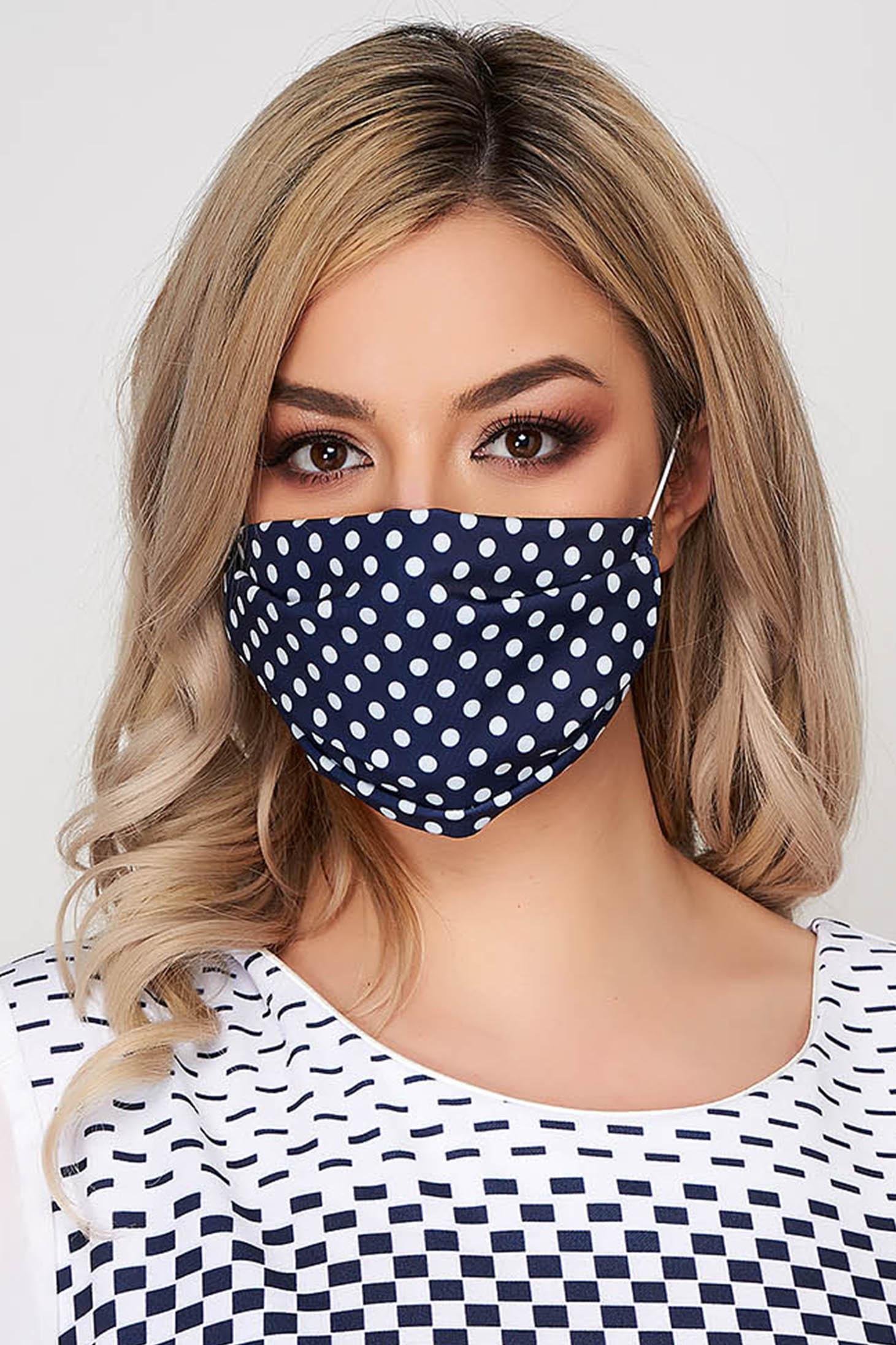 Masca de protectie StarShinerS albastru-inchis din lycra cu buline