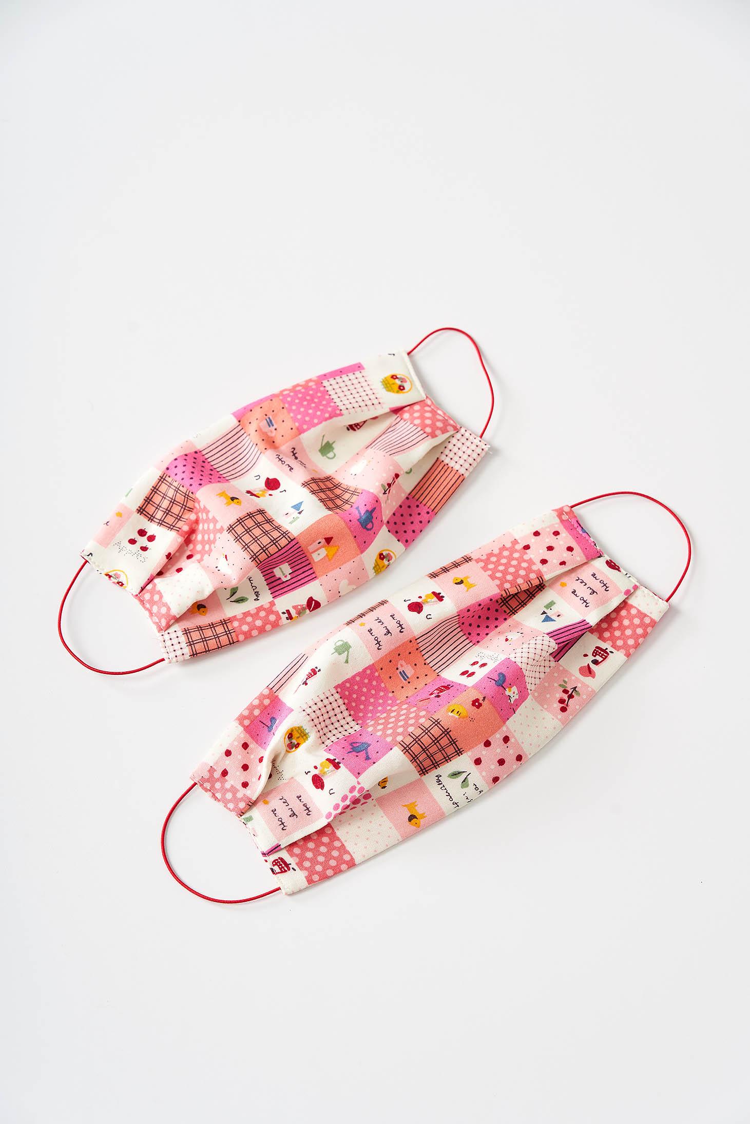 Masca de protectie pentru copii StarShinerS roz din bumbac subtire
