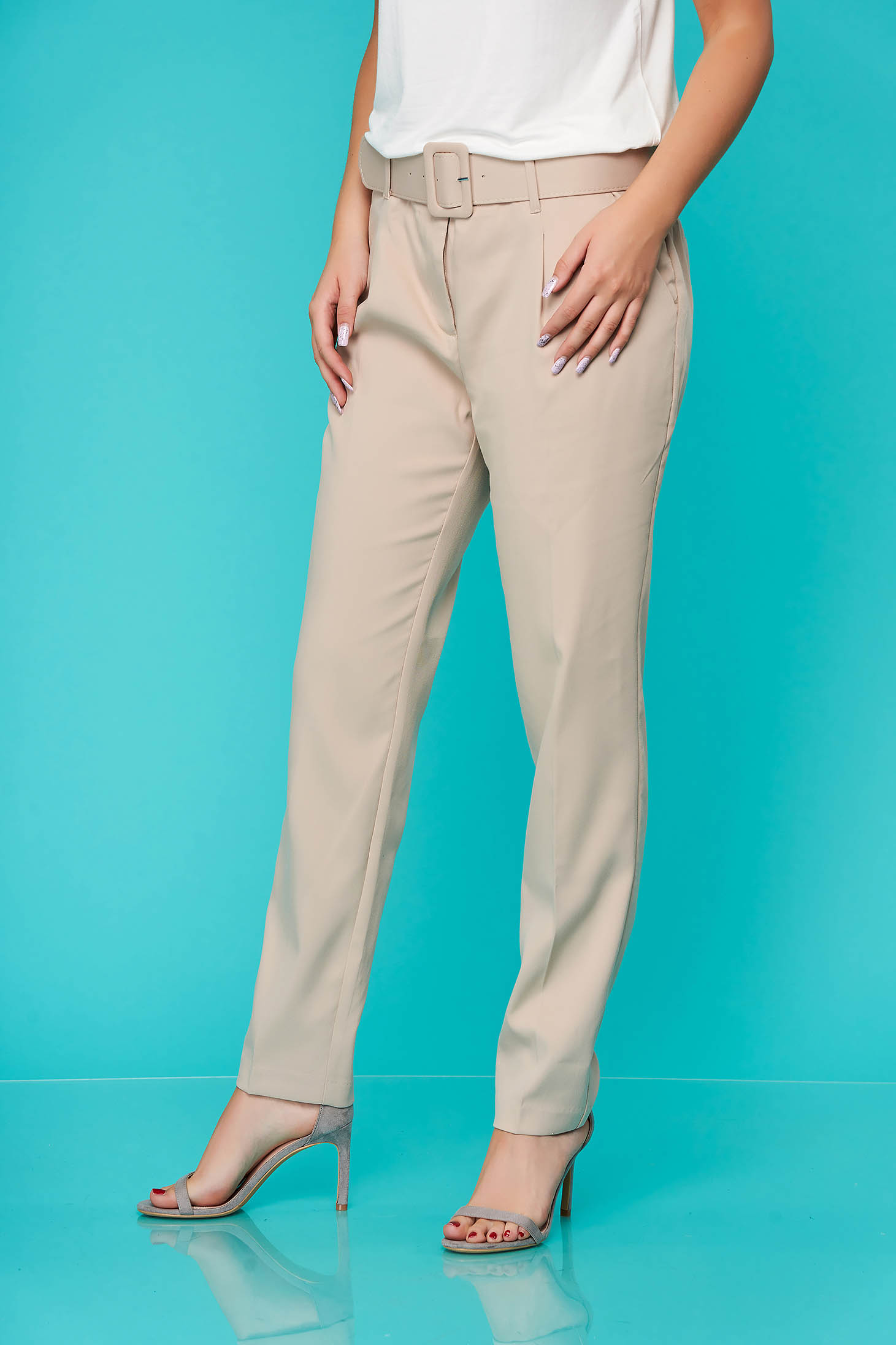 Pantaloni Top Secret crem