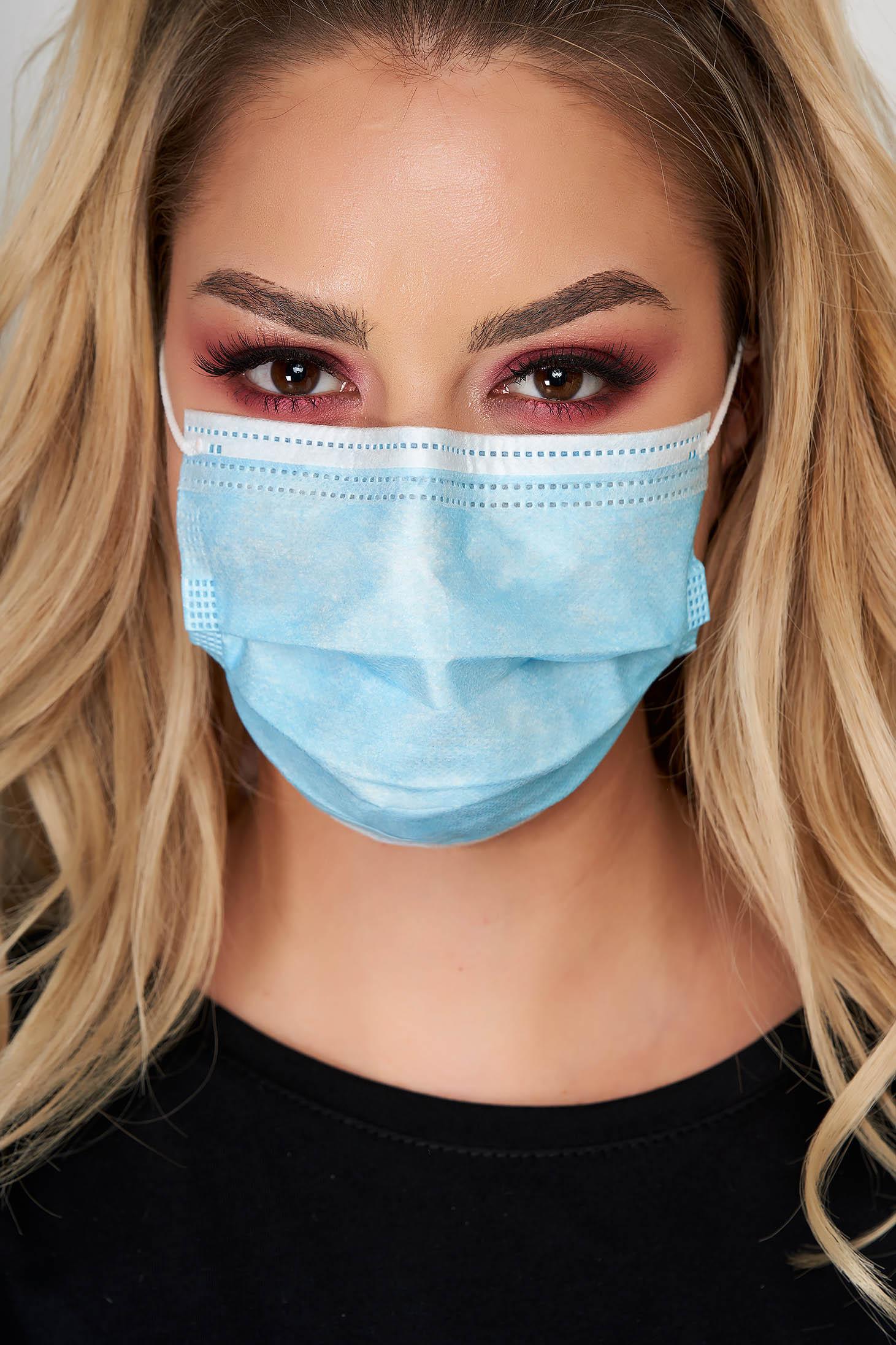 Set 50 bucati masca de protectie albastra cu 3 straturi de unica folosinta cu certificat CE
