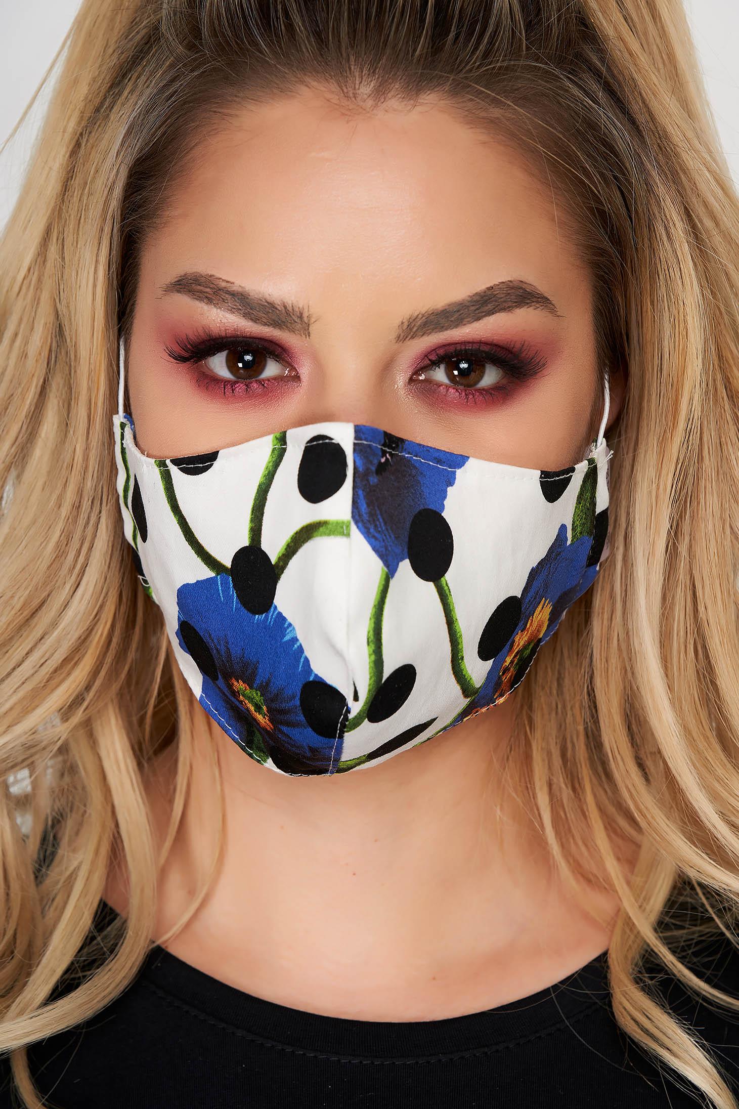 Masca de protectie StarShinerS alba din material textil