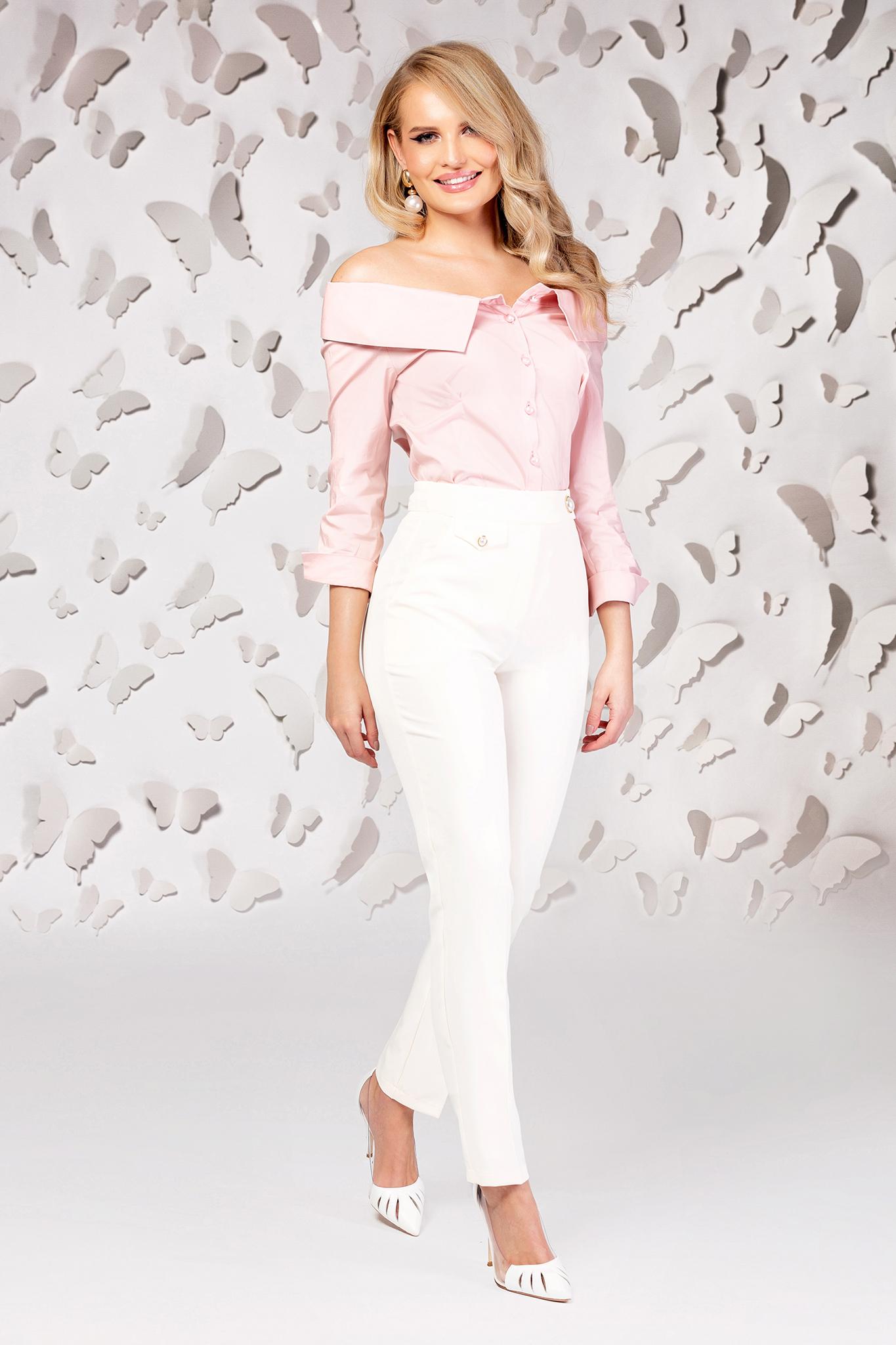 Púder rózsaszínű női ing