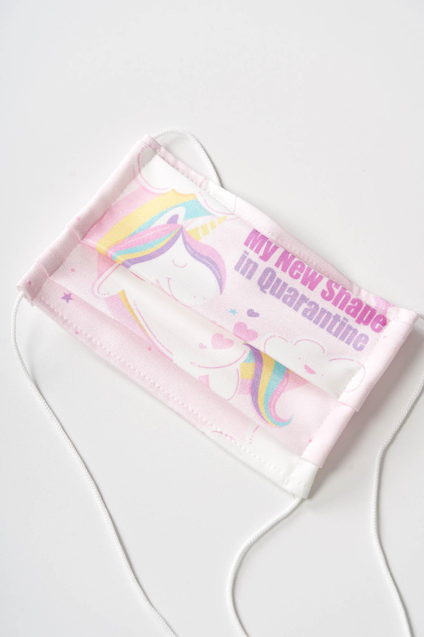 Masca de protectie pentru copii StarShinerS roz deschis pentru copii din material textil