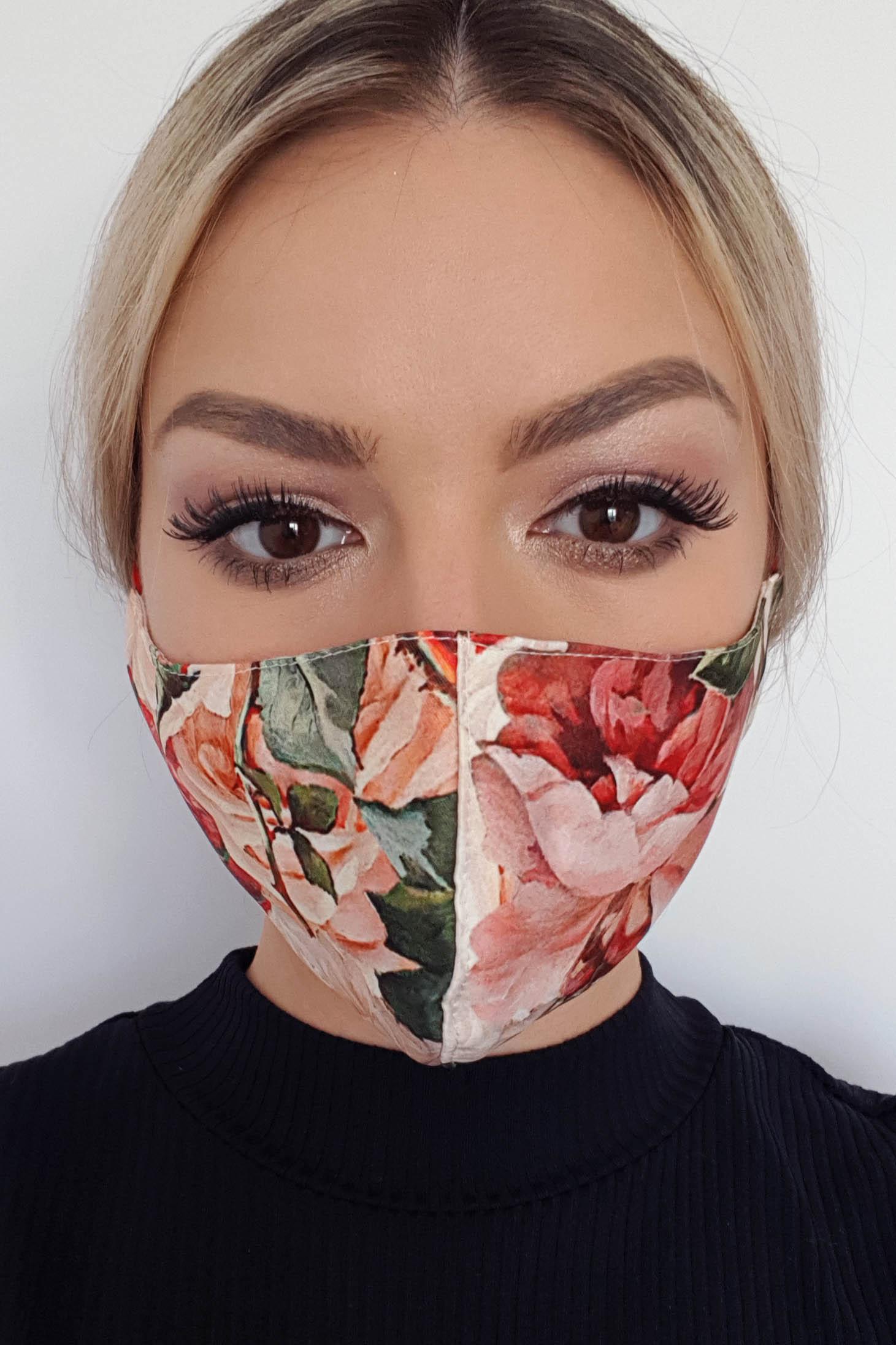 Masca de protectie StarShinerS crem din material textil