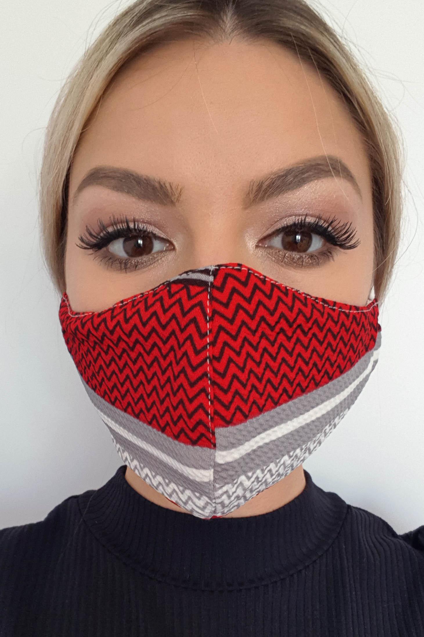 Masca textila StarShinerS rosie