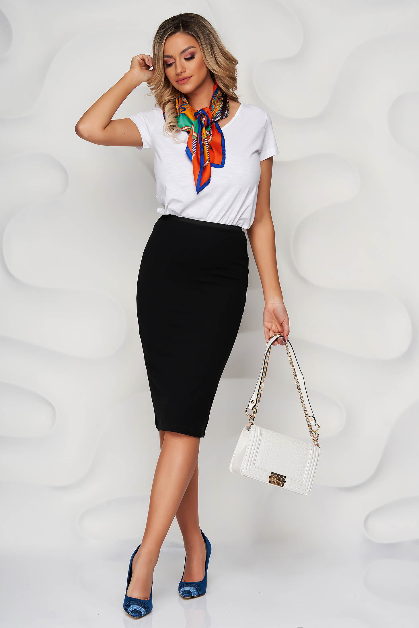 StarShinerS black office midi pencil skirt from kotott