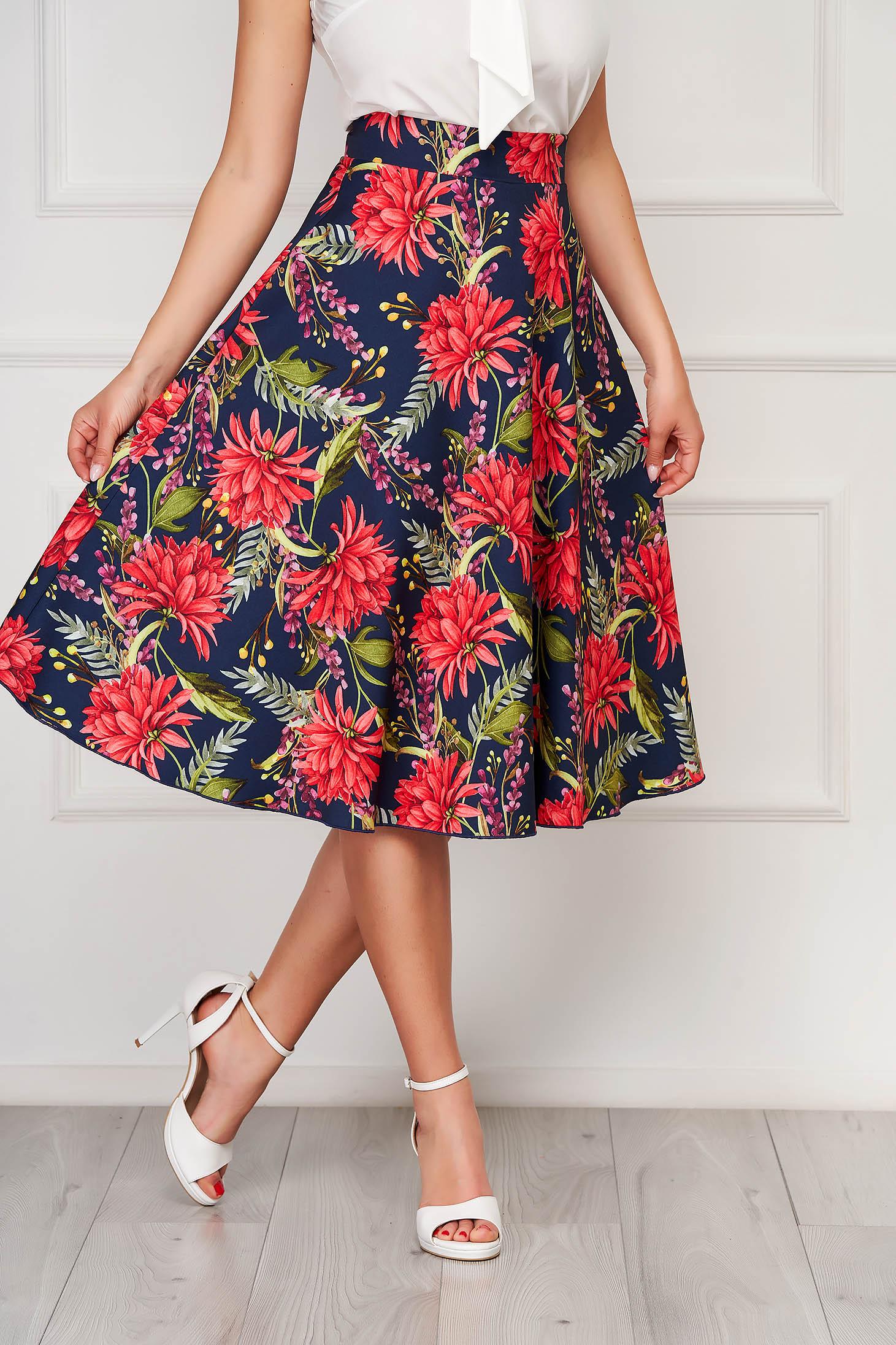 StarShinerS darkblue elegant midi skirt without clothing