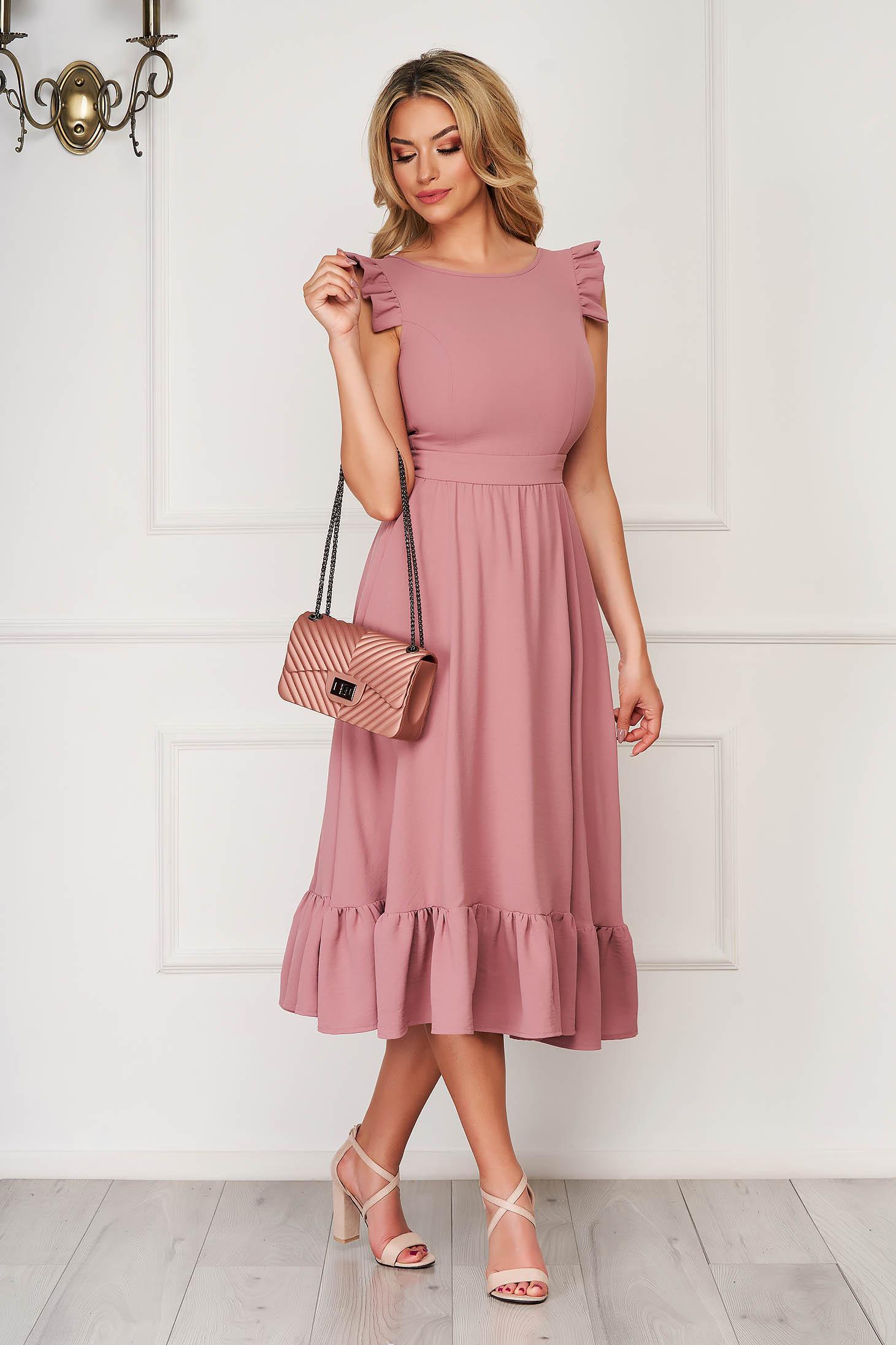 Lila elegant midi StarShinerS dress cloth