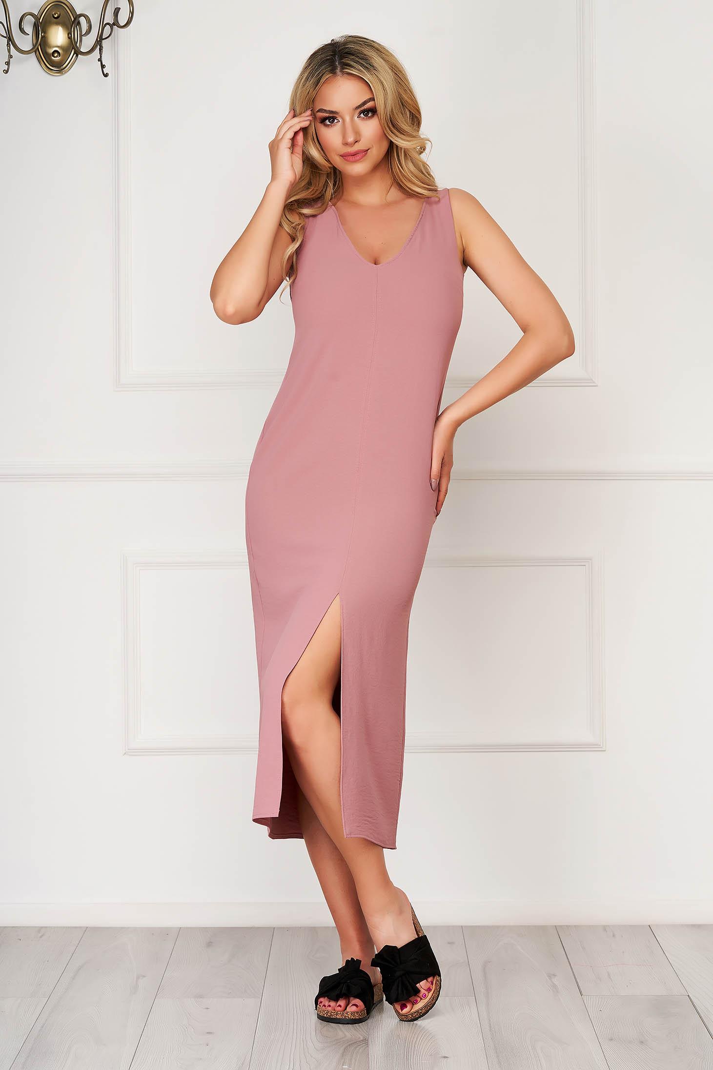 Lila midi daily StarShinerS flared sleeveless dress