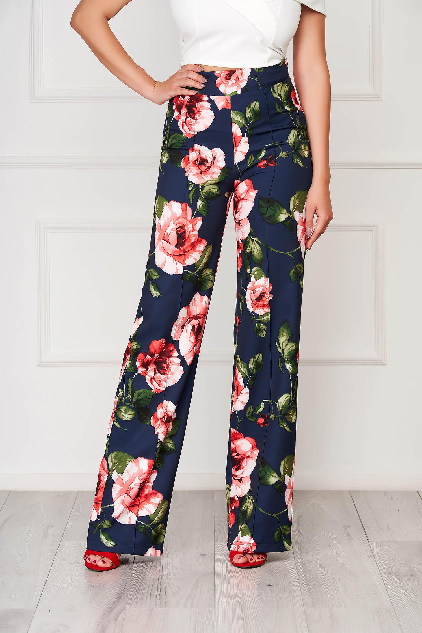 Elegant StarShinerS darkblue trousers flared cloth