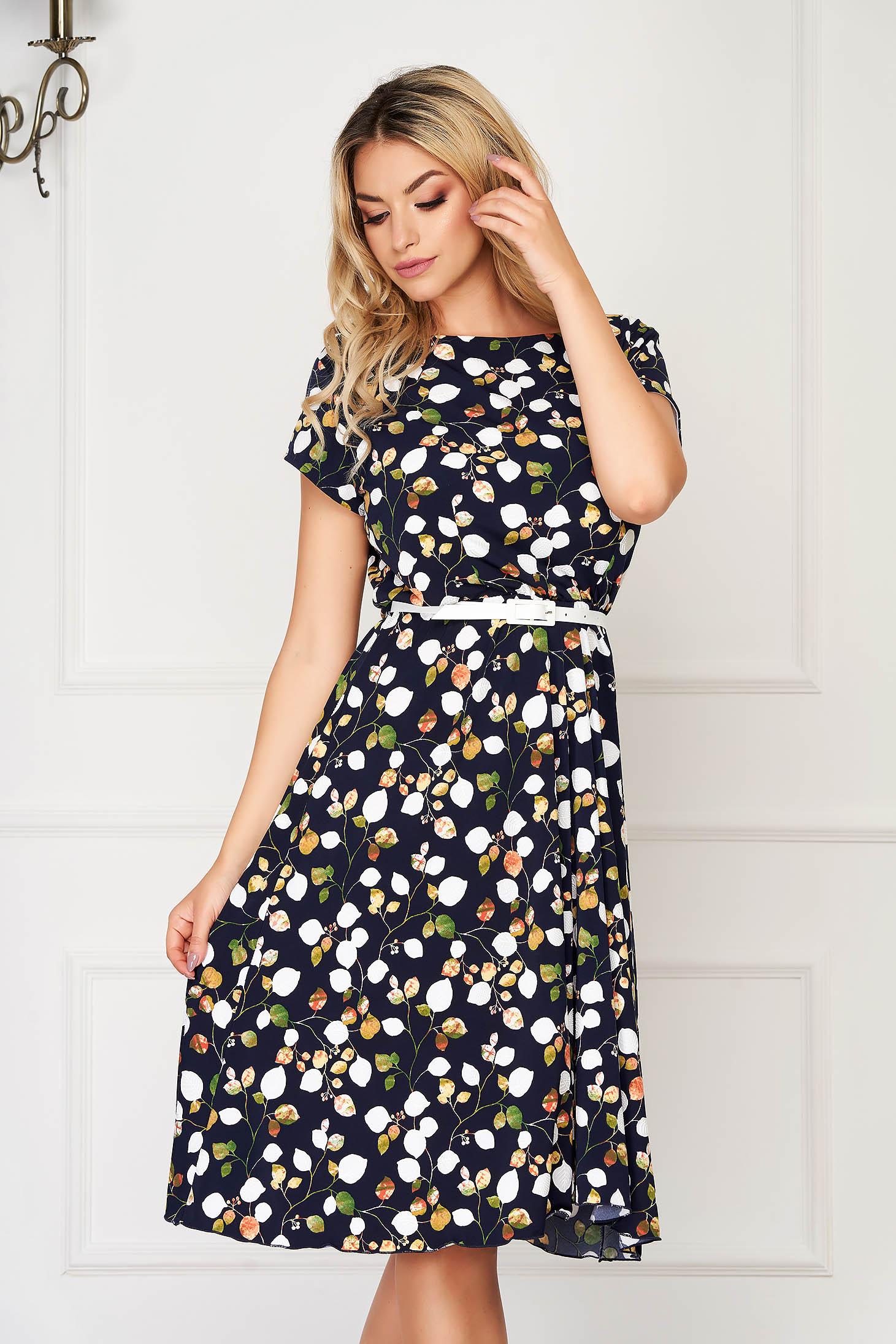 StarShinerS darkblue dress midi daily cloche thin fabric