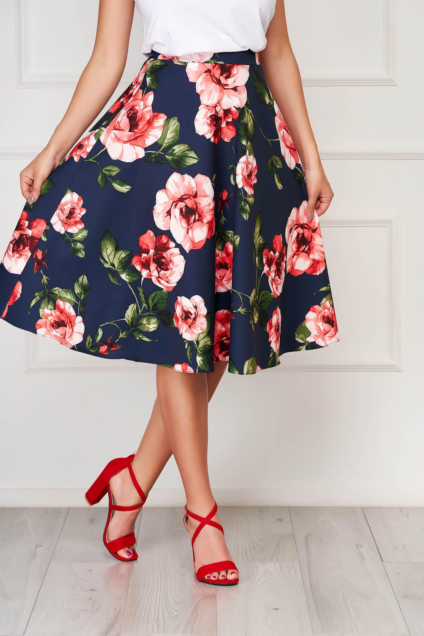 StarShinerS red elegant midi skirt cloth without clothing