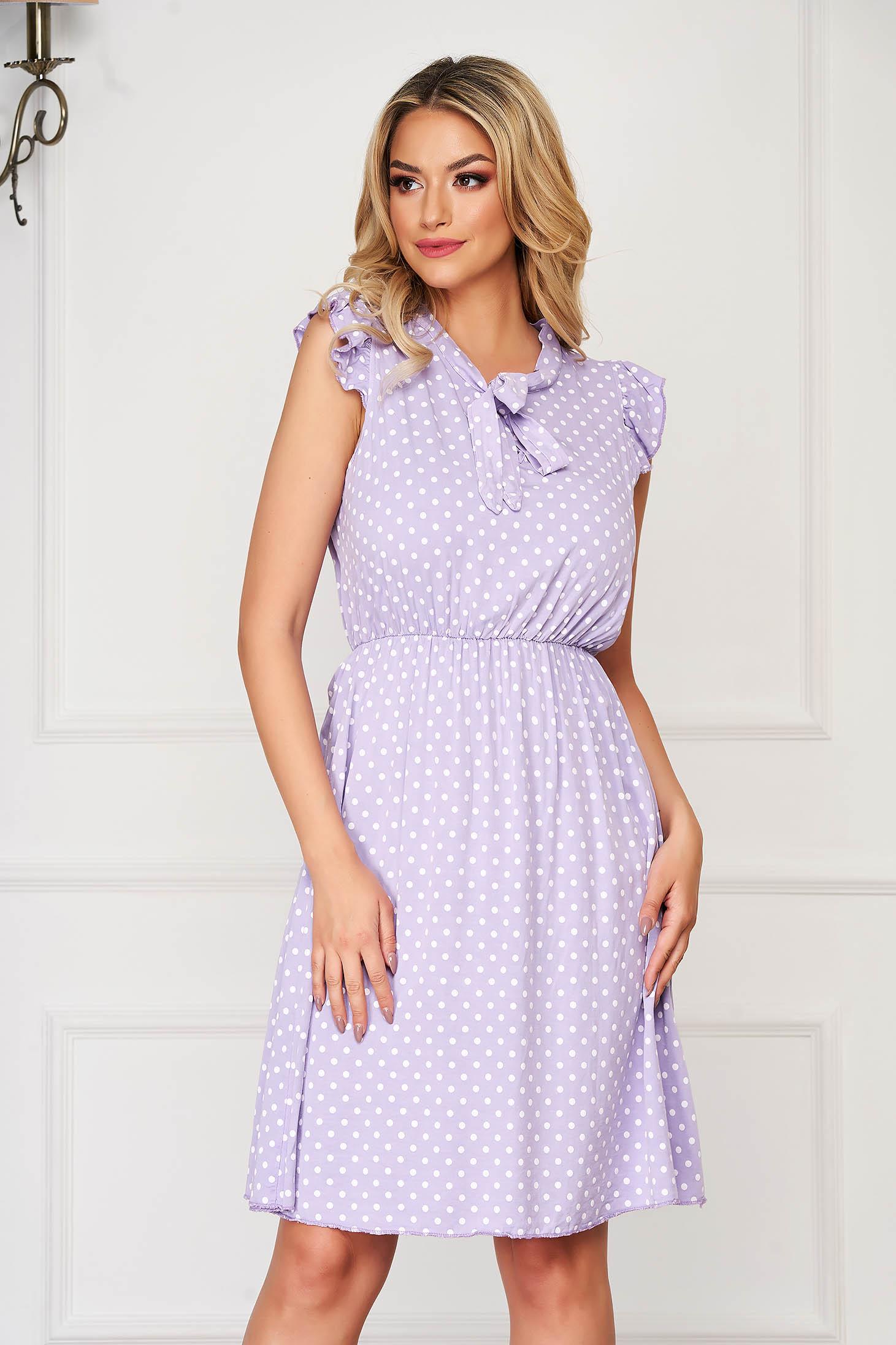 Lila dress short cut daily cloche with elastic waist airy fabric