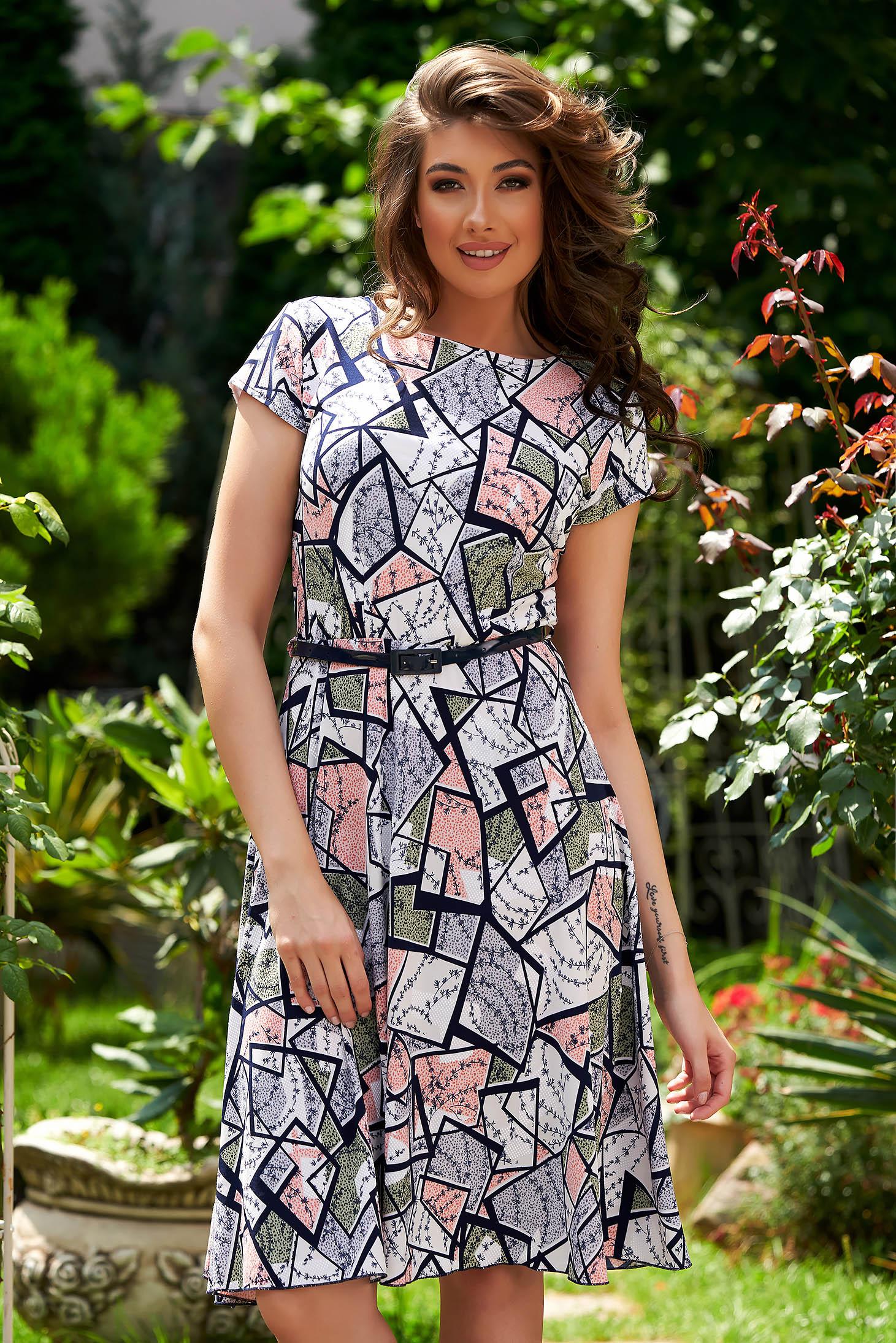 StarShinerS white dress midi daily cloche short sleeves